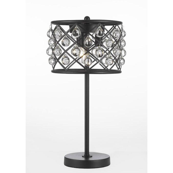 spencer crystal spheres iron 20 h table lamp wayfair. Black Bedroom Furniture Sets. Home Design Ideas