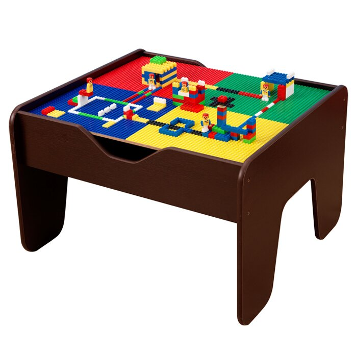 kidkraft 2 in 1 lego and train activity table reviews. Black Bedroom Furniture Sets. Home Design Ideas