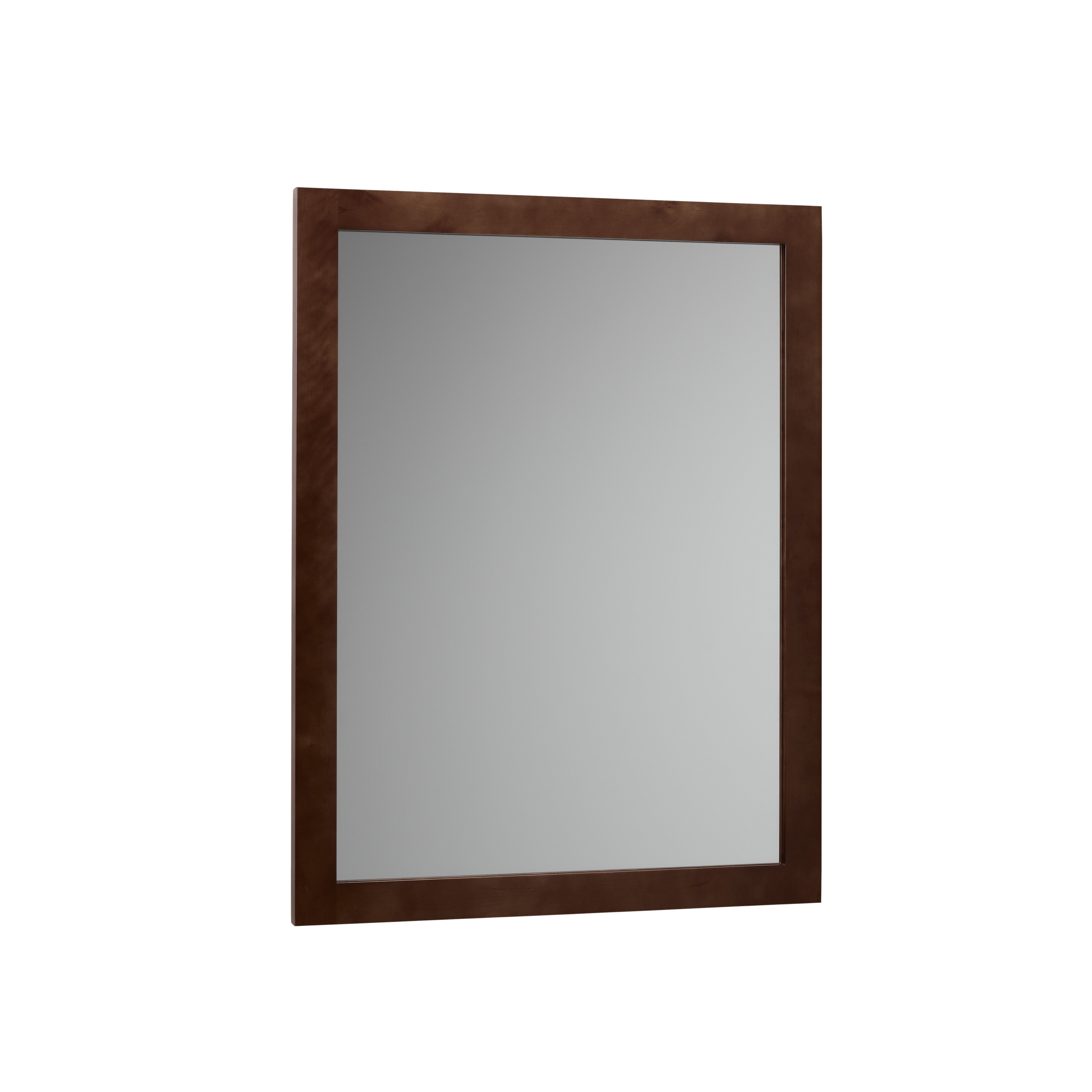 Ronbow contemporary solid wood framed bathroom mirror in dark cherry reviews wayfair for Cherry wood framed bathroom mirrors