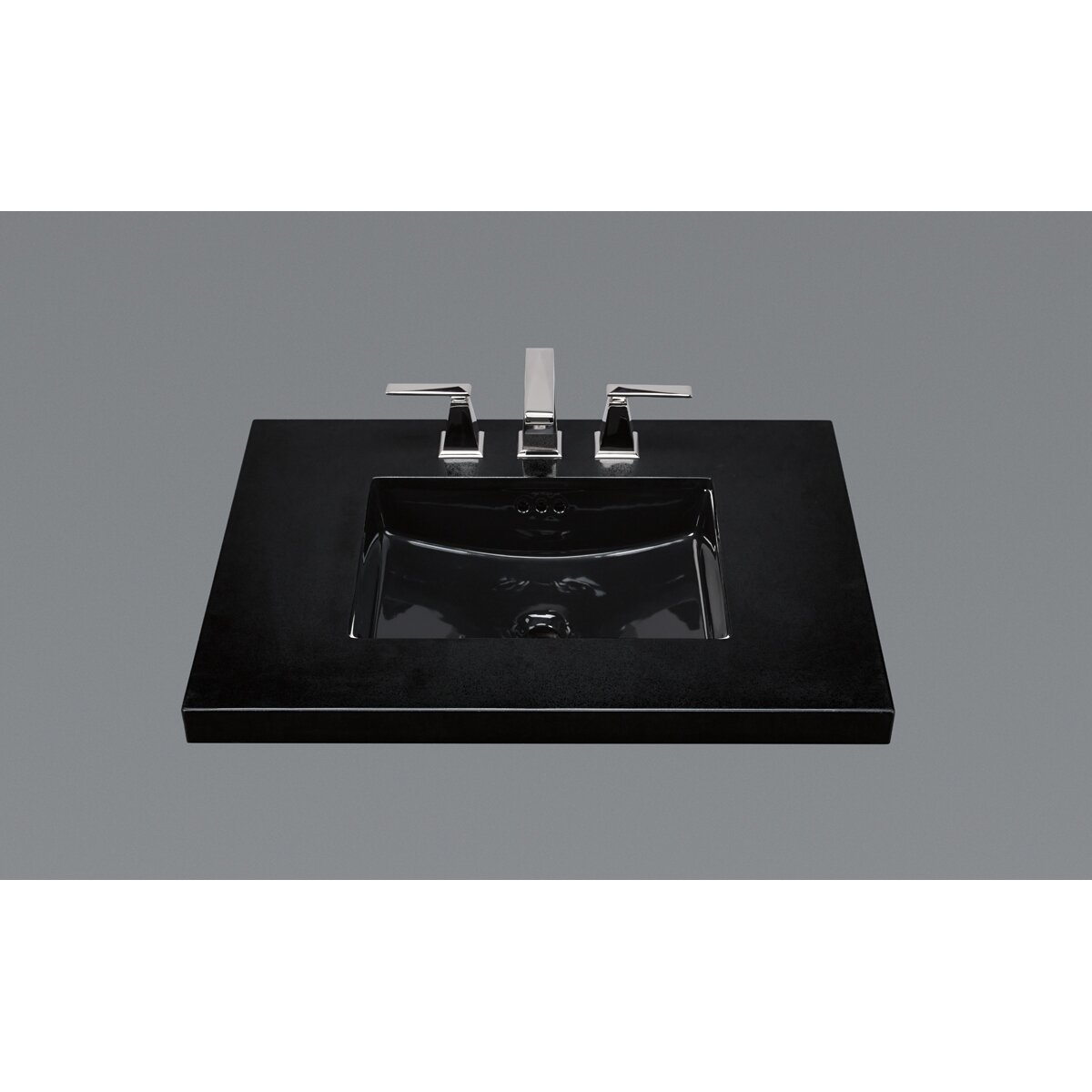 Black Bathroom Sink : Ceramic Undermount Bathroom Sink in Black Wayfair