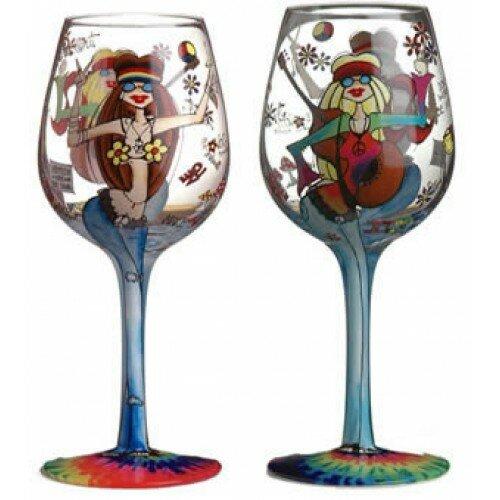 Hippee chicks bottom 39 s up wine glass wayfair - Square bottom wine glasses ...