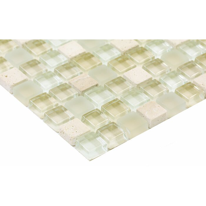 Paragon 12 Quot X 12 Quot Glass Mosaic Tile In Linen Mixed Wayfair