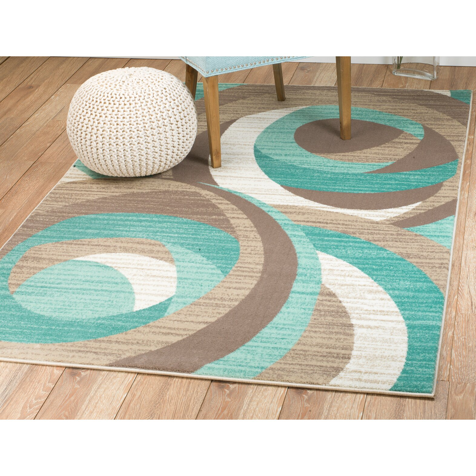 Rug And Decor Inc. Summit Teal Area Rug & Reviews