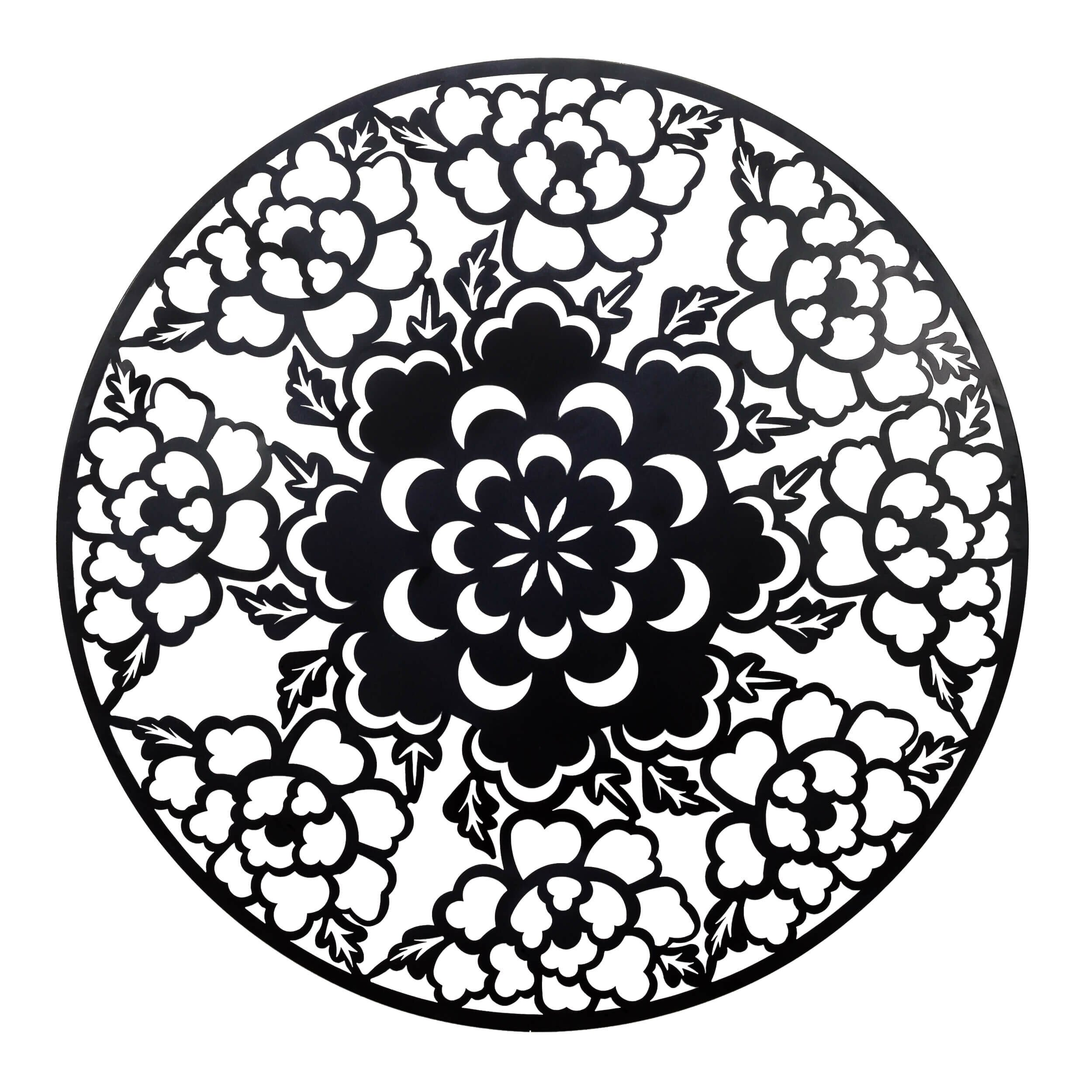 Round Floral Metal Wall D Cor Wayfair