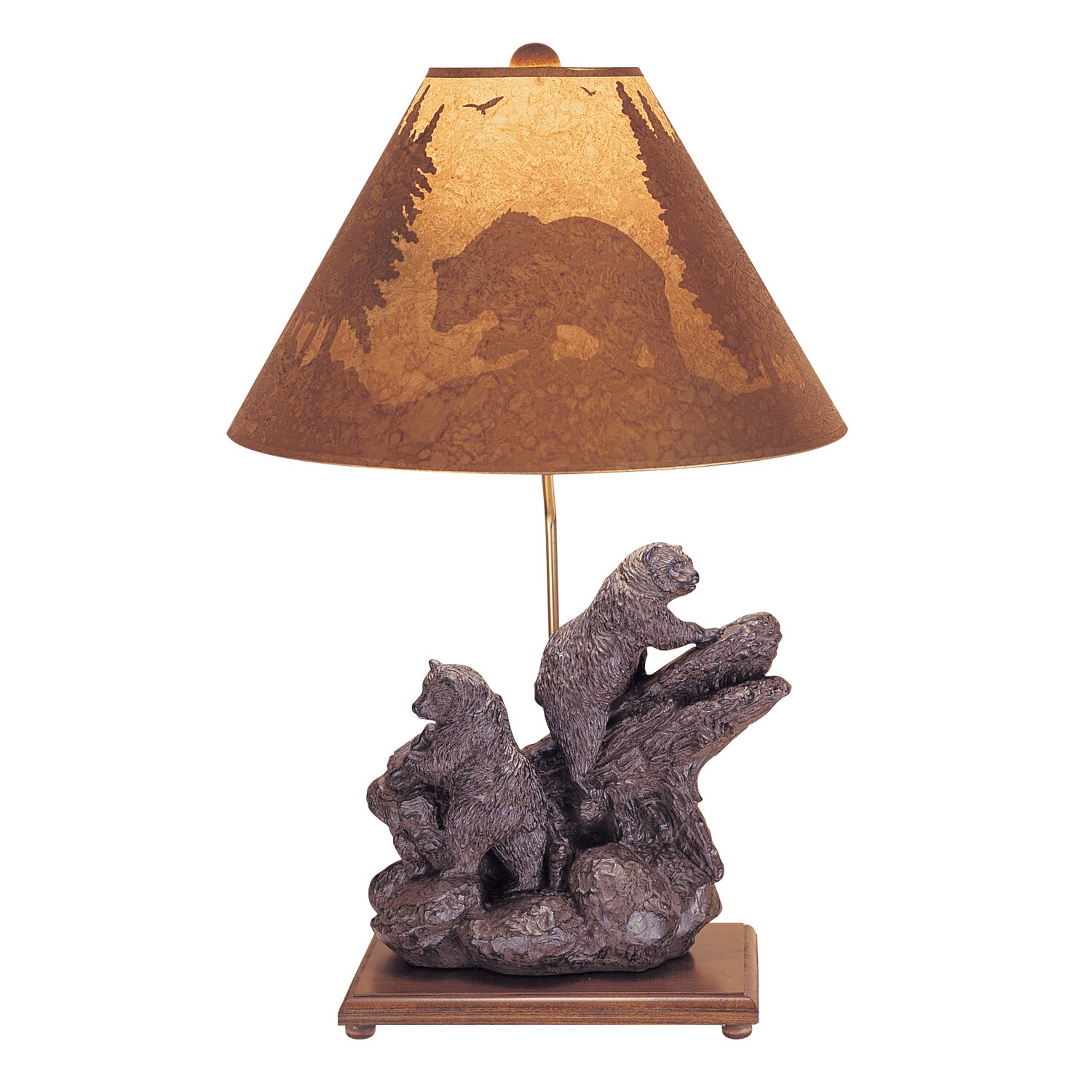 Bears Pool Table Lamp : Mario industries climbing bear table lamp in brown