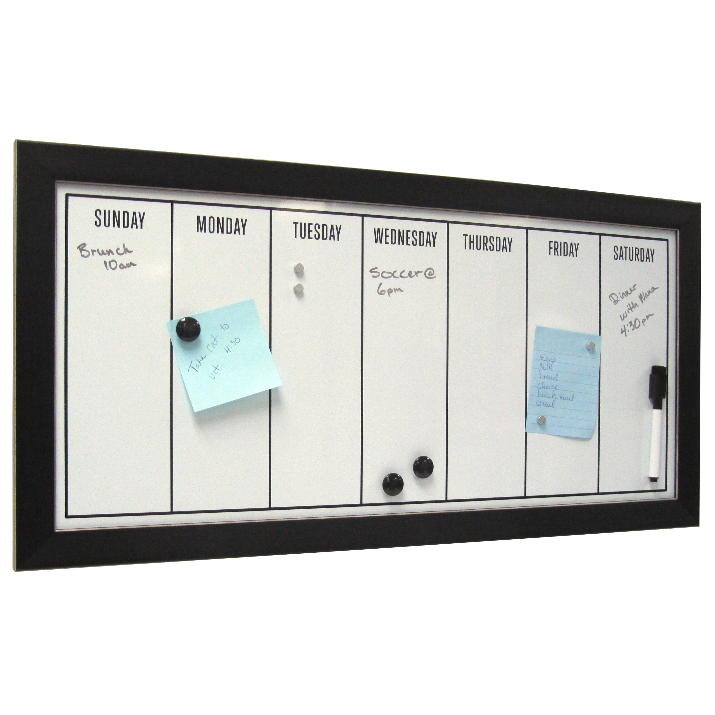 Uniek Wyeth Framed Magnetic Weekly Calendar Dry Erase Board & Reviews ...