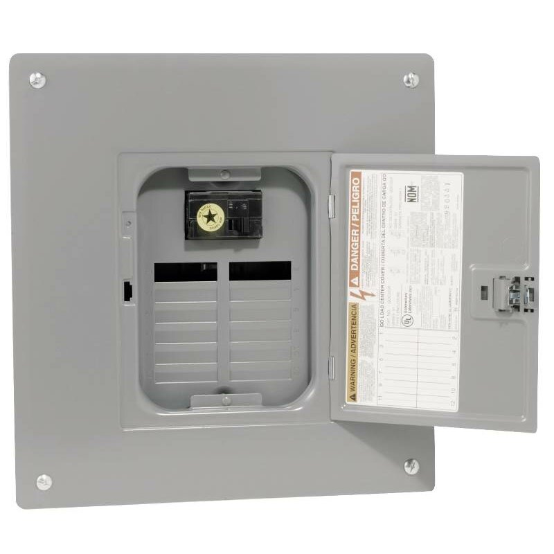 100 amp manual transfer switch with indoor load center