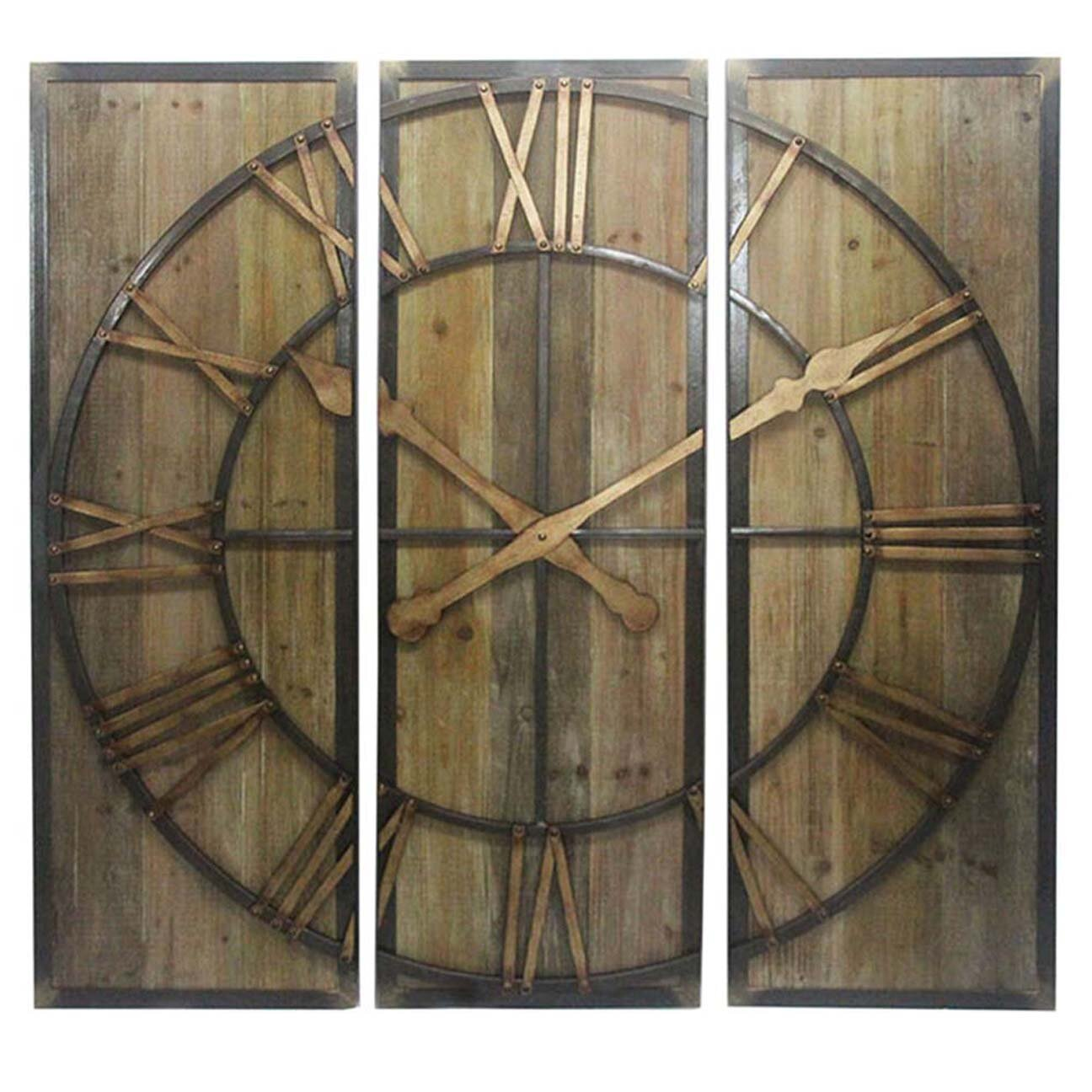 multi panel clock wall decor by sagebrookhome