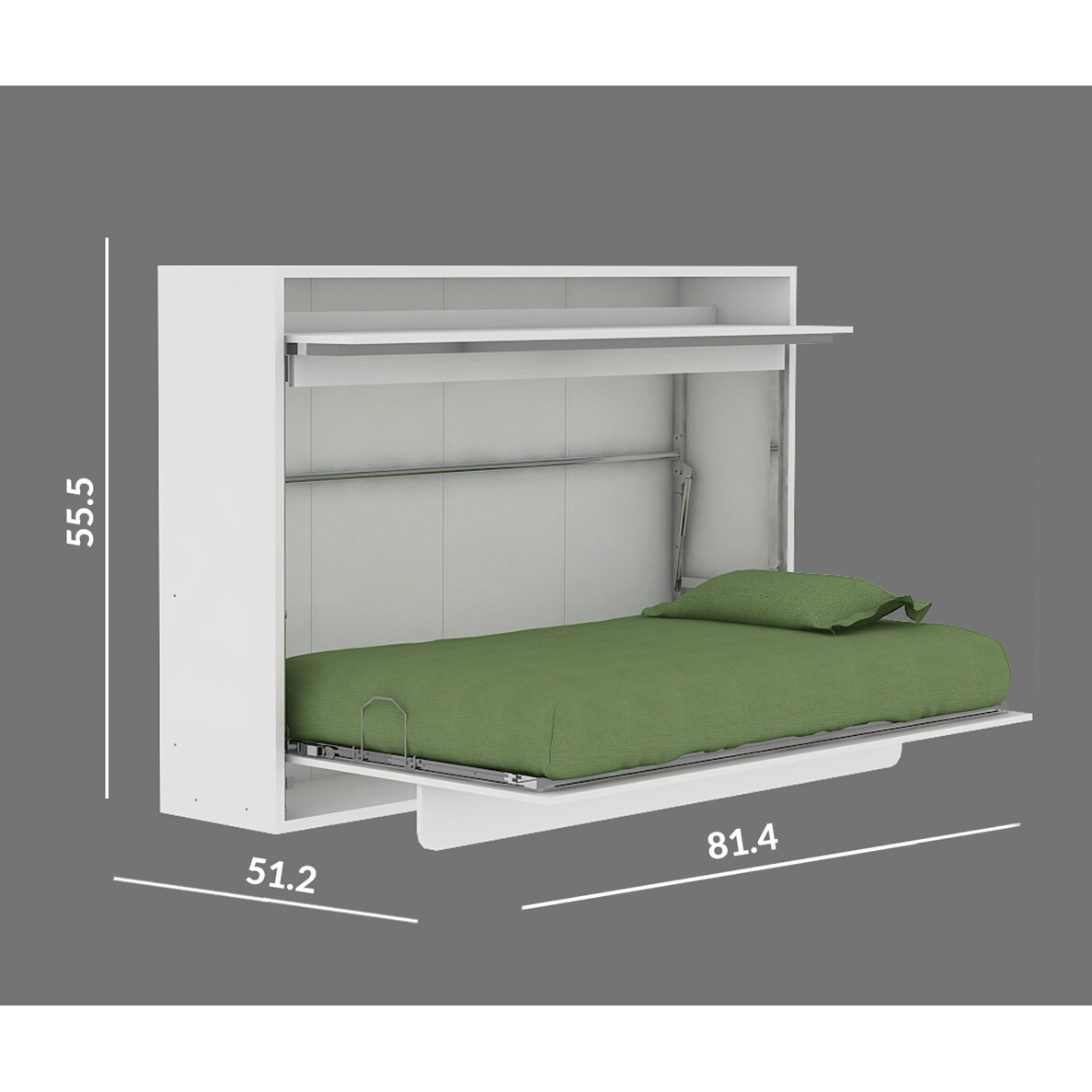 Multimo Genio Twin Murphy Bed u0026 Reviews : Wayfair