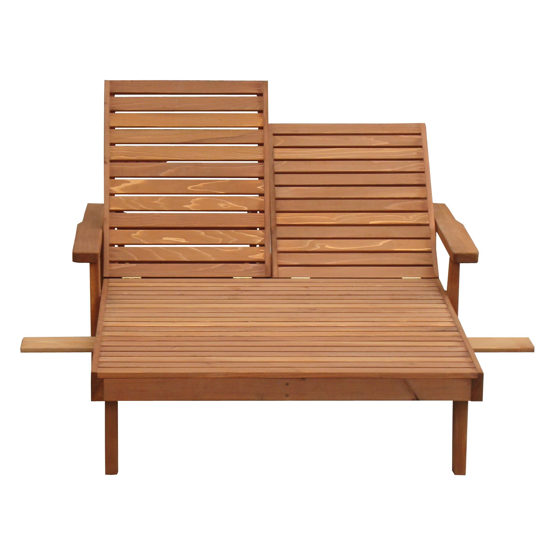 summer double chaise lounge by best redwood