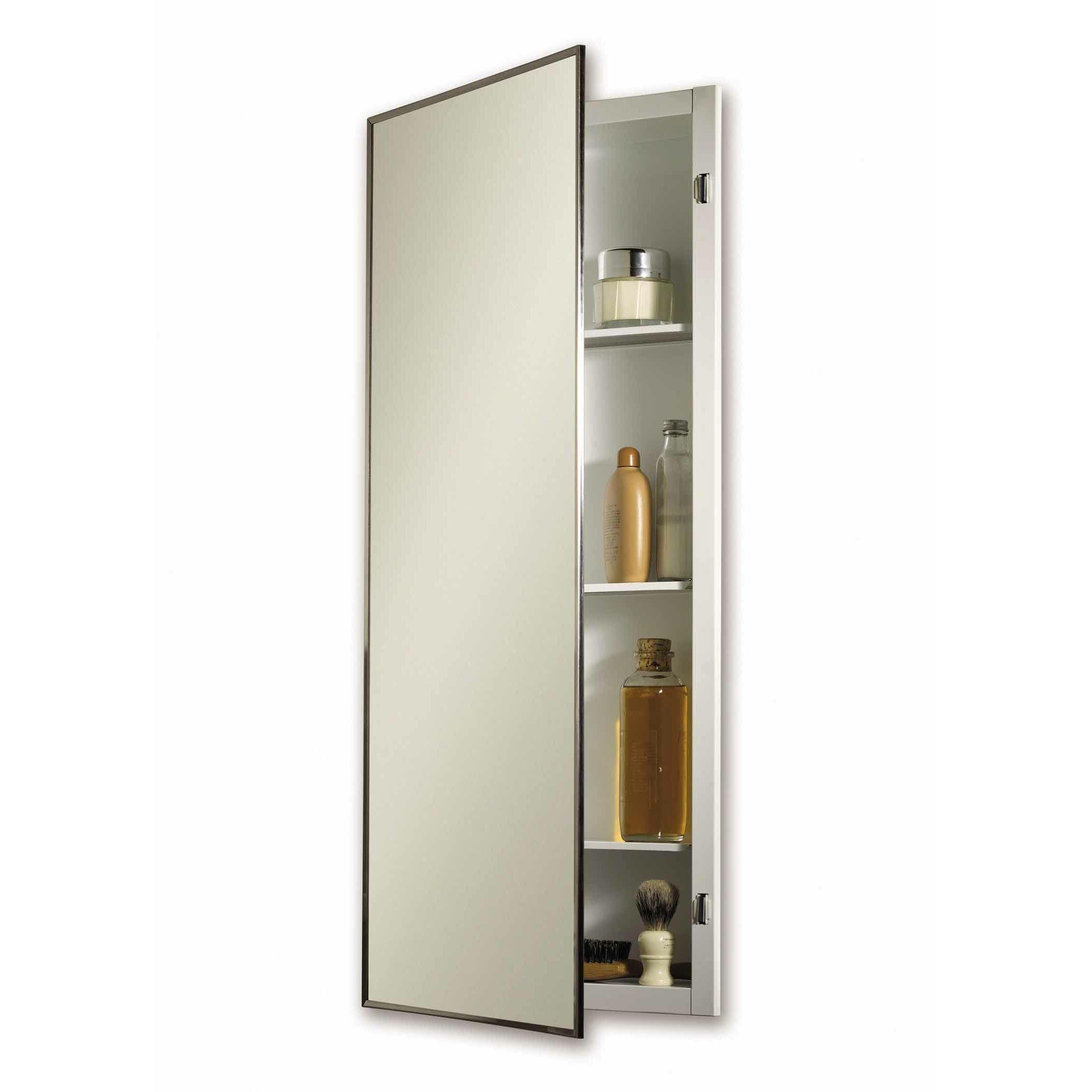jensen 16 x 26 recessed medicine cabinet reviews wayfair. Black Bedroom Furniture Sets. Home Design Ideas
