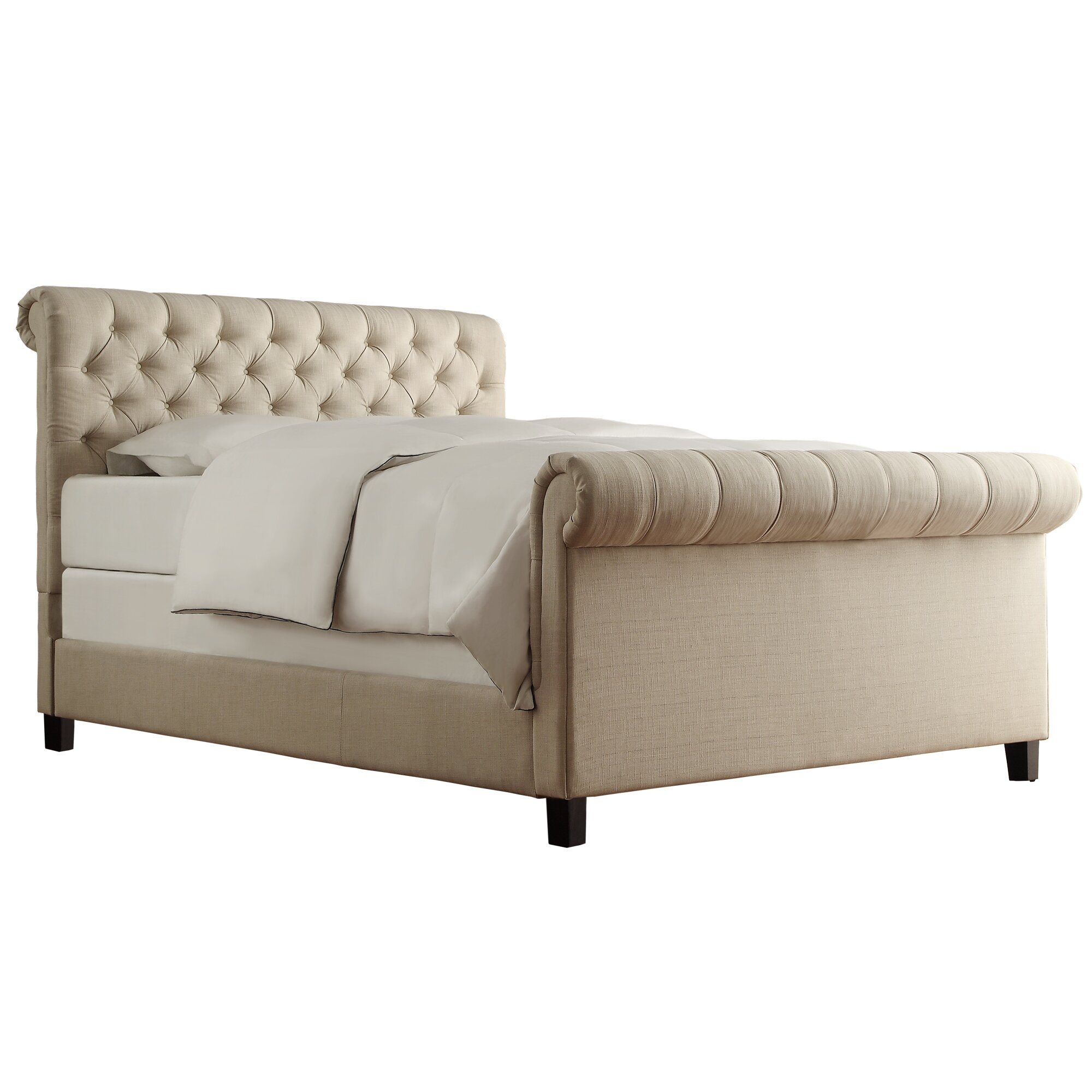 Upholstered Platform Bed : ... Wheeler Mccullers Upholstered Platform Bed & Reviews  Wayfair