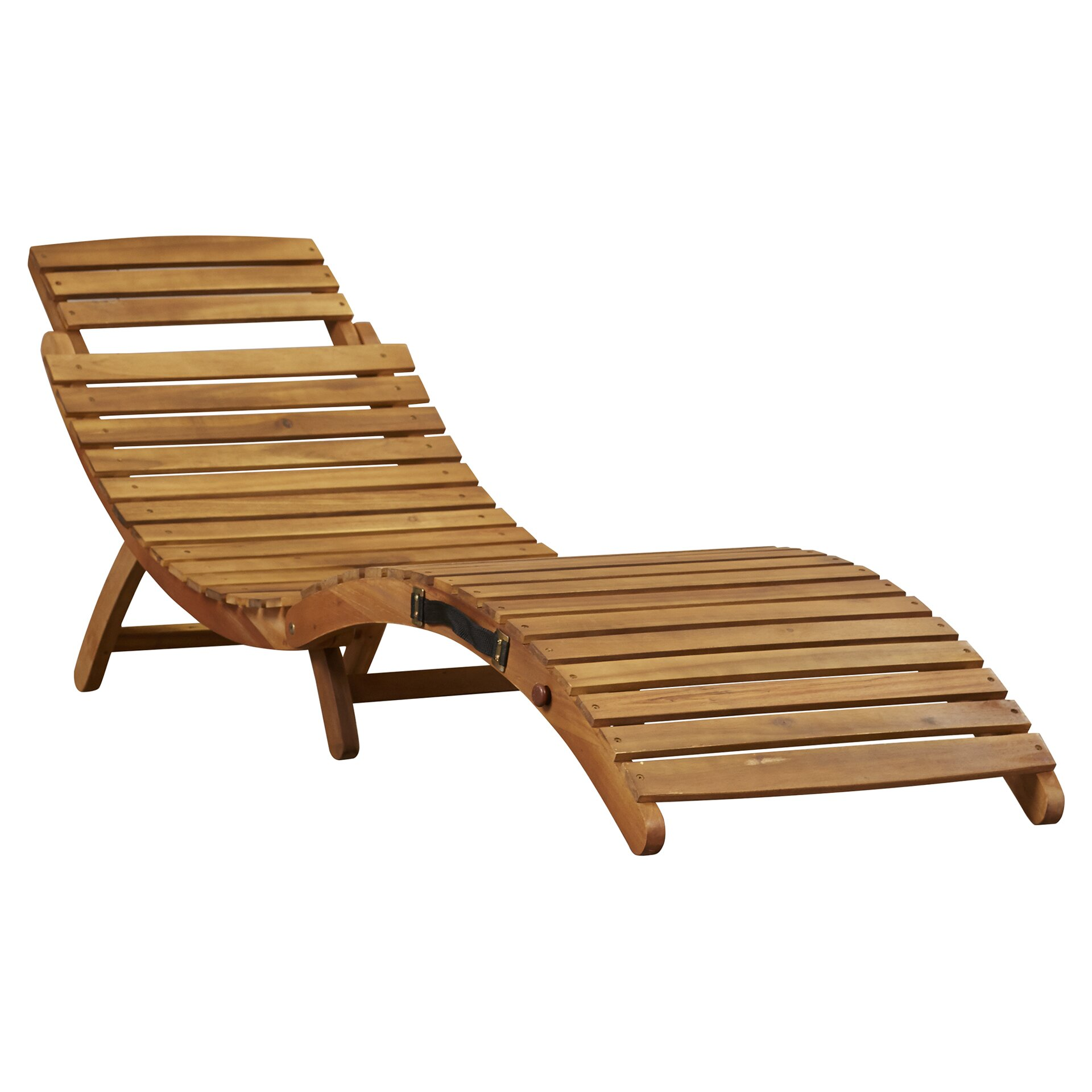 Bay Isle Home Wood Outdoor Chaise Lounge & Reviews