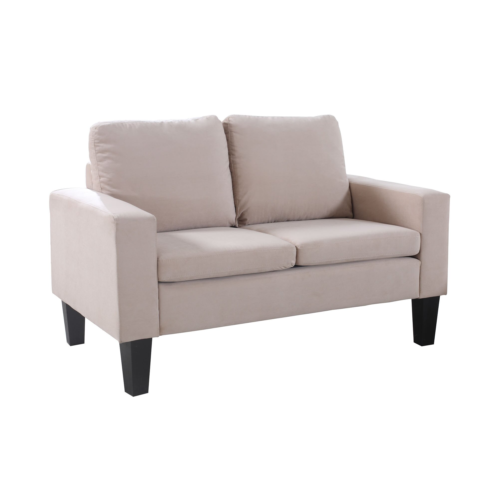 NathanielHome Sarah Microfiber Loveseat & Reviews