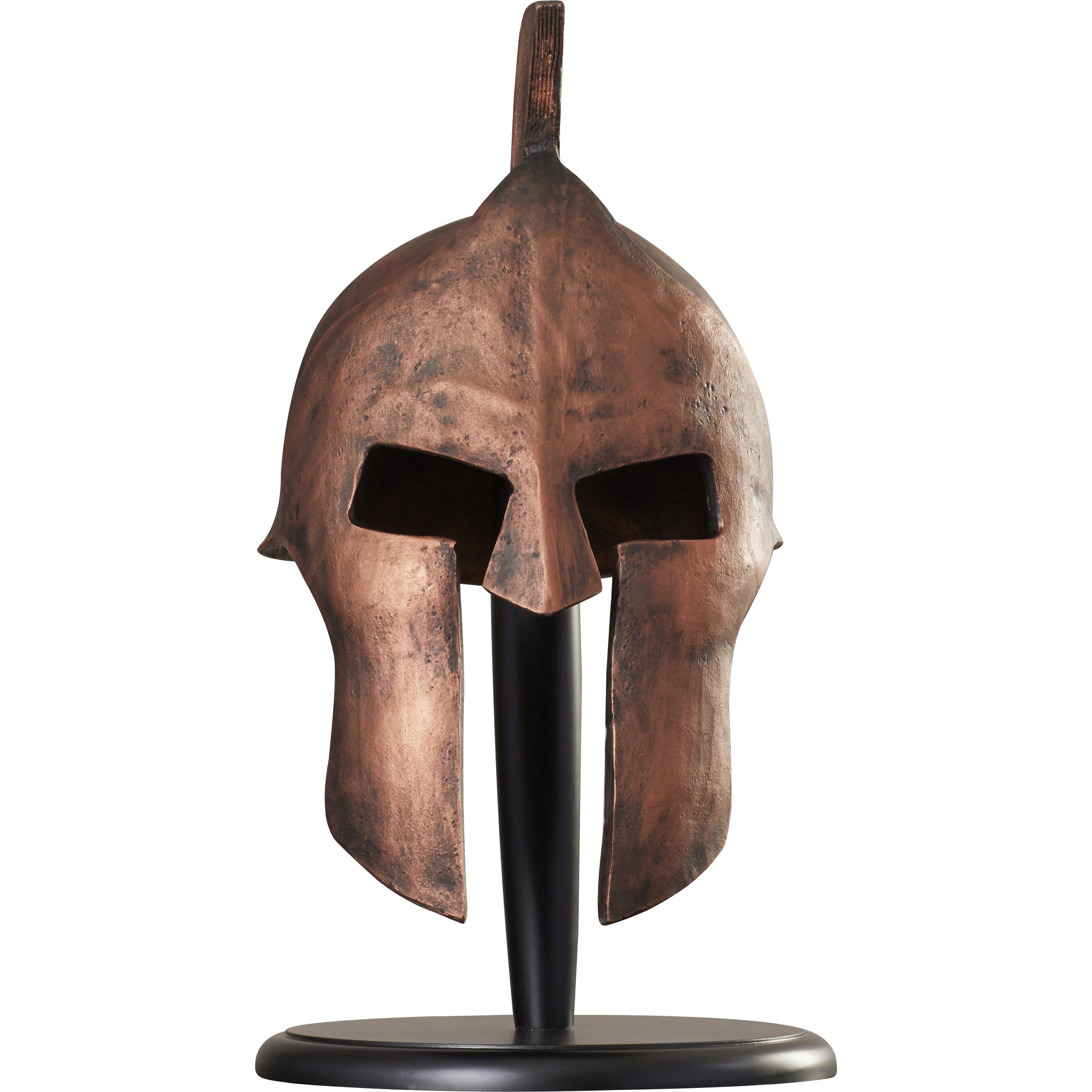 World Menagerie Greek Spartan Helmet Sculpture Amp Reviews