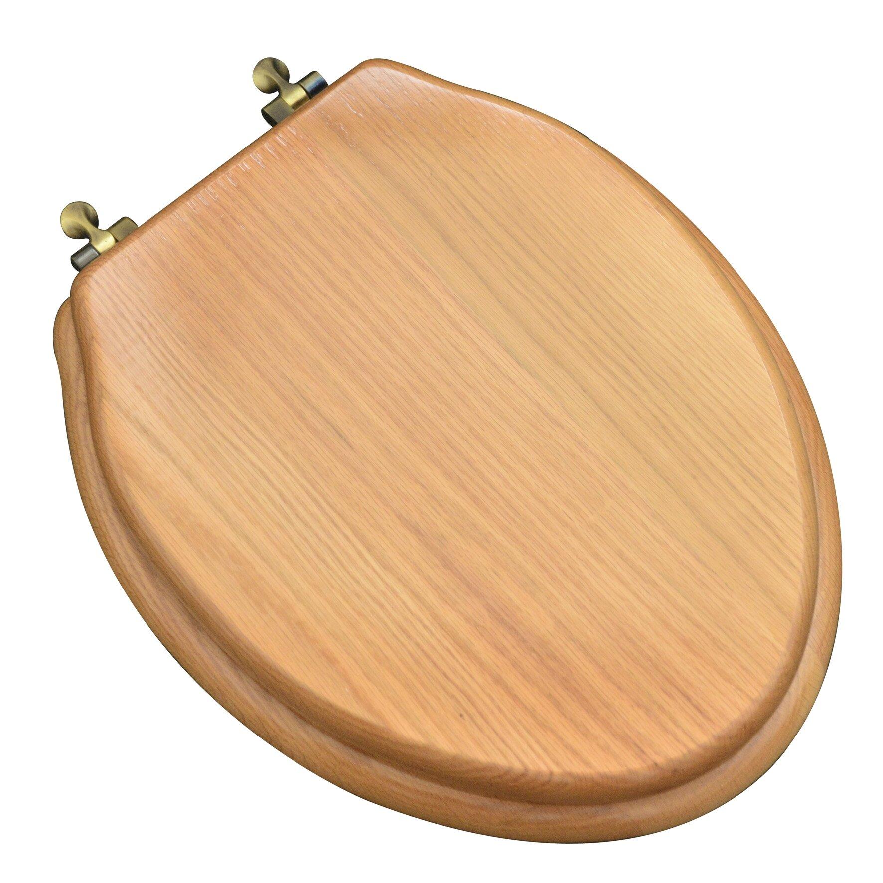 Plumbingtechnologiesllc Designer Solid Oak Wood Elongated