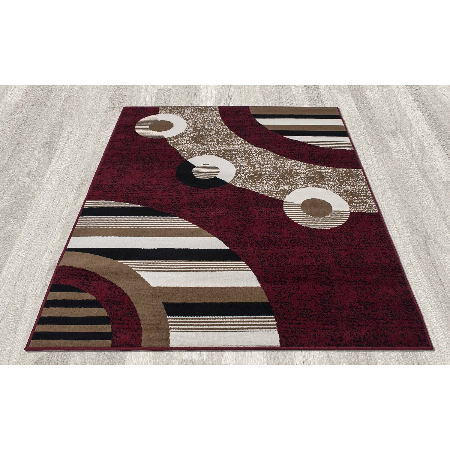 Clifton 3 Piece Red Area Rug Set