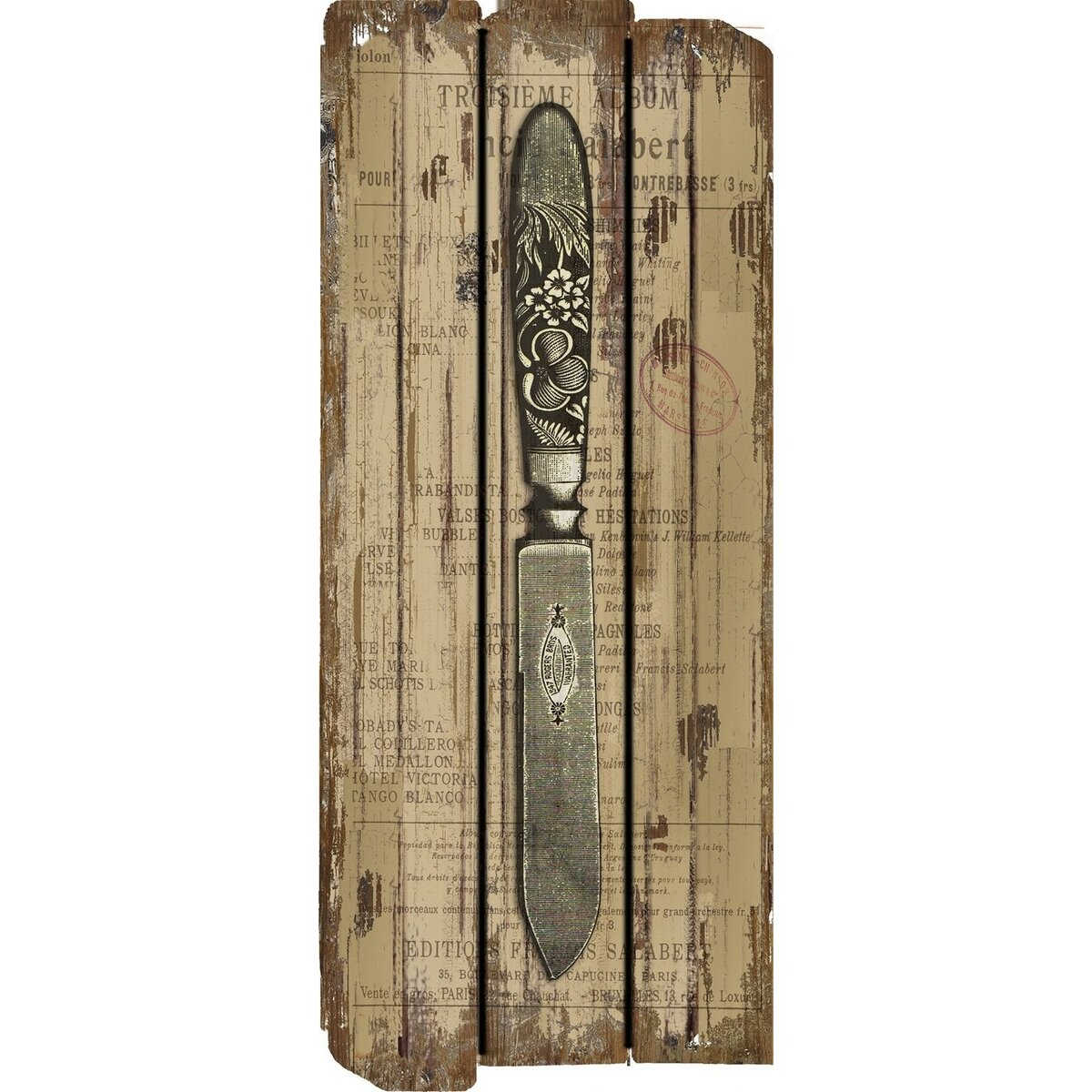 Shop French Country Decor French Country Knife Wood Sign Wall Decor By