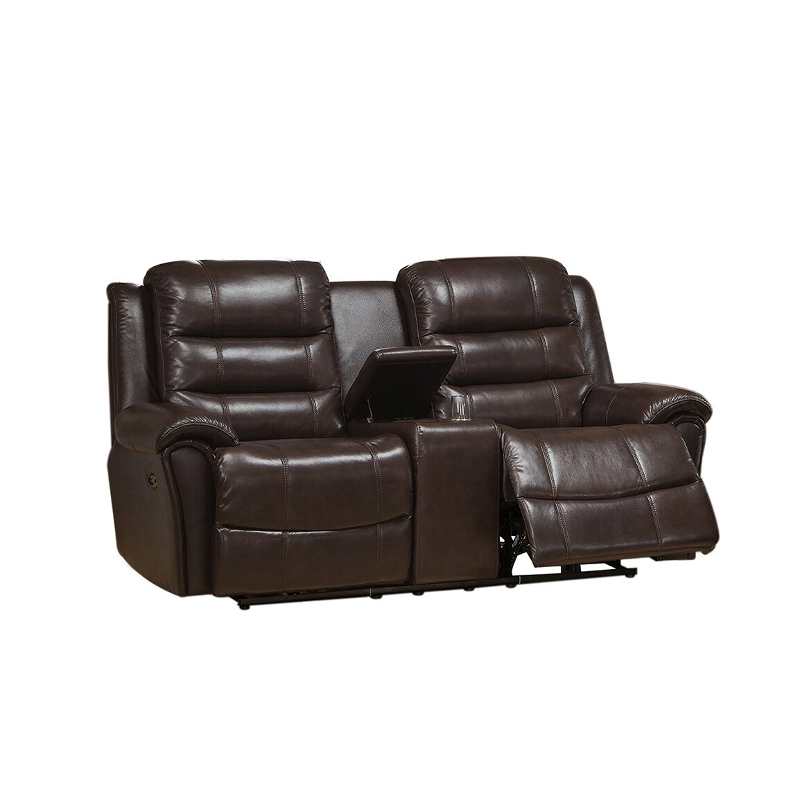 Astoria leather recliner sofa and loveseat set wayfair for Leather sofa and loveseat set