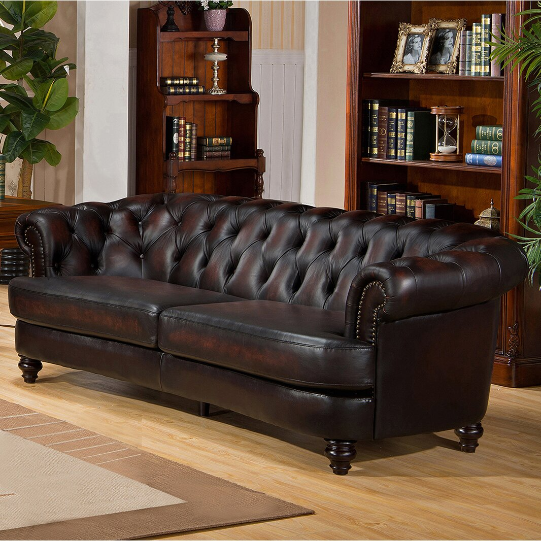 Reviews For Leather Sofas: Amax Roosevelt Leather Sofa & Reviews