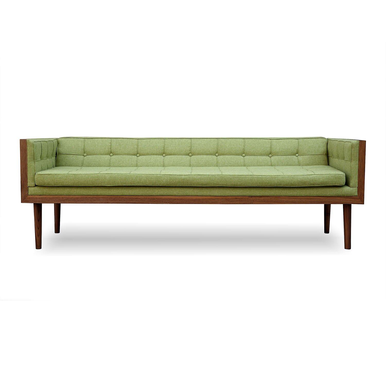 Woodrow mid century modern box sofa wayfair