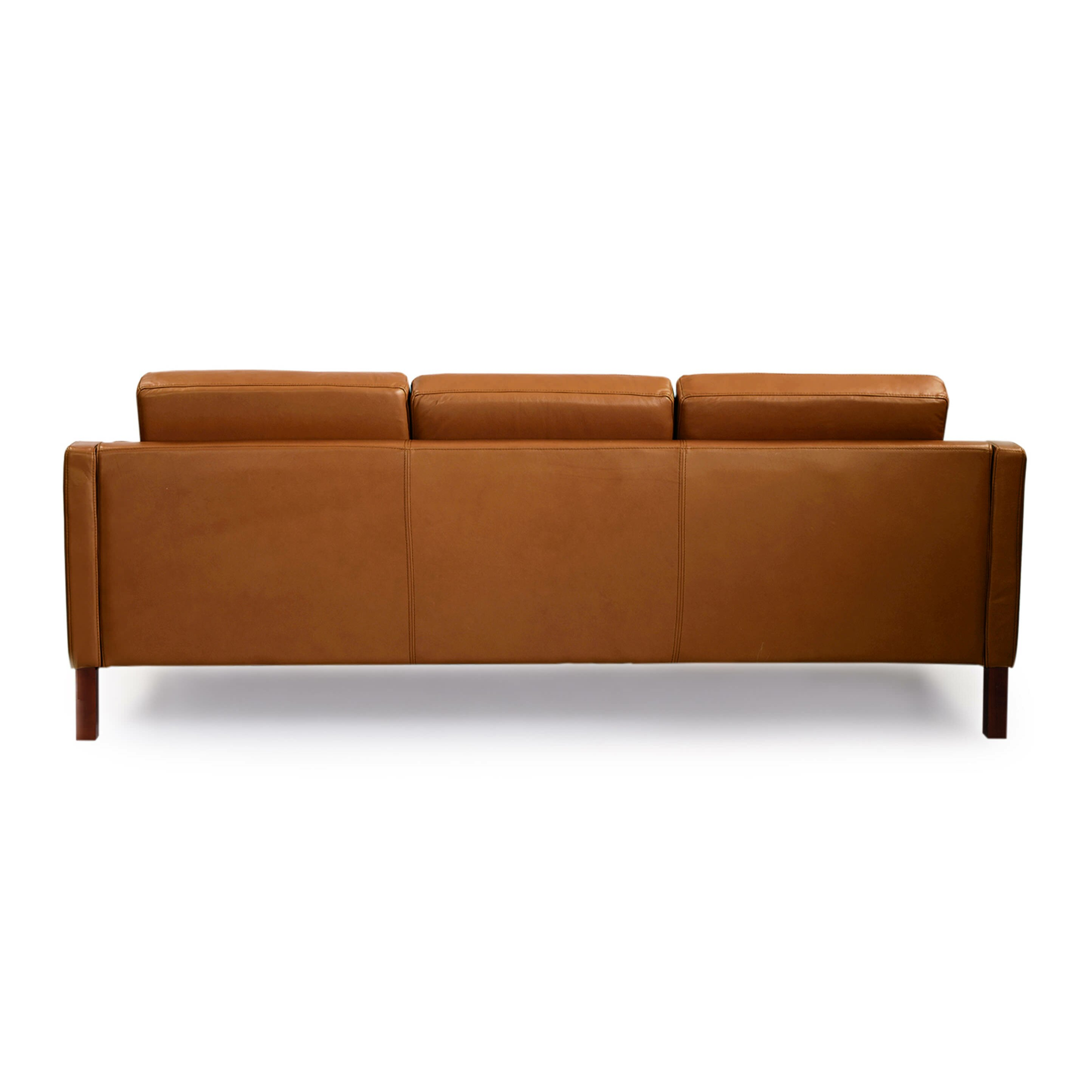 monroe mid century modern leather sofa by kardiel