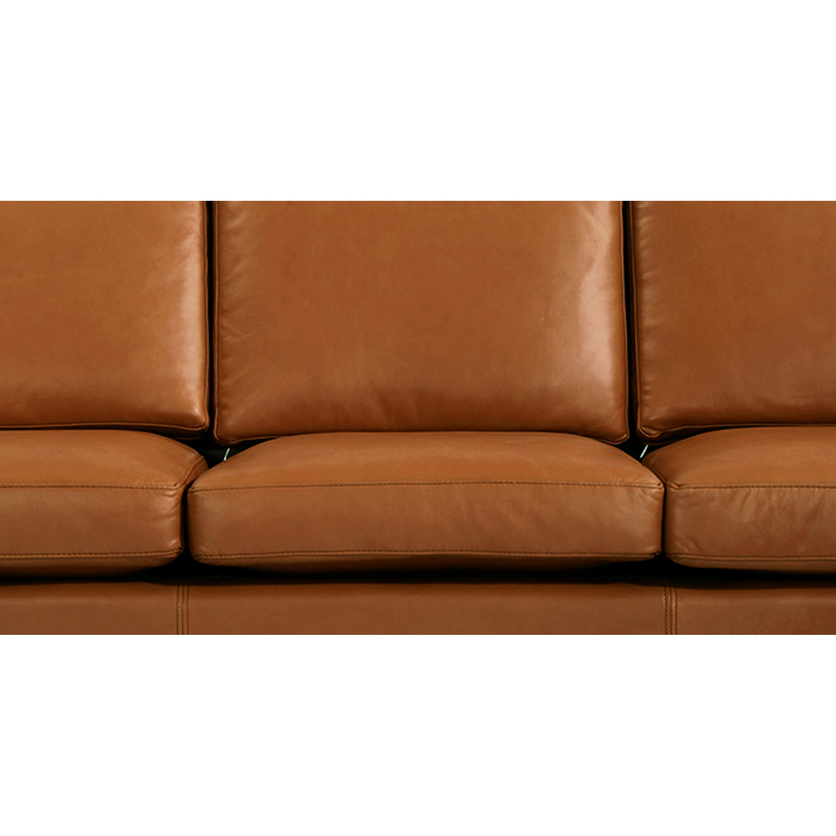 Mid Century Modern Leather Sofa: Monroe Mid Century Modern Leather Sofa