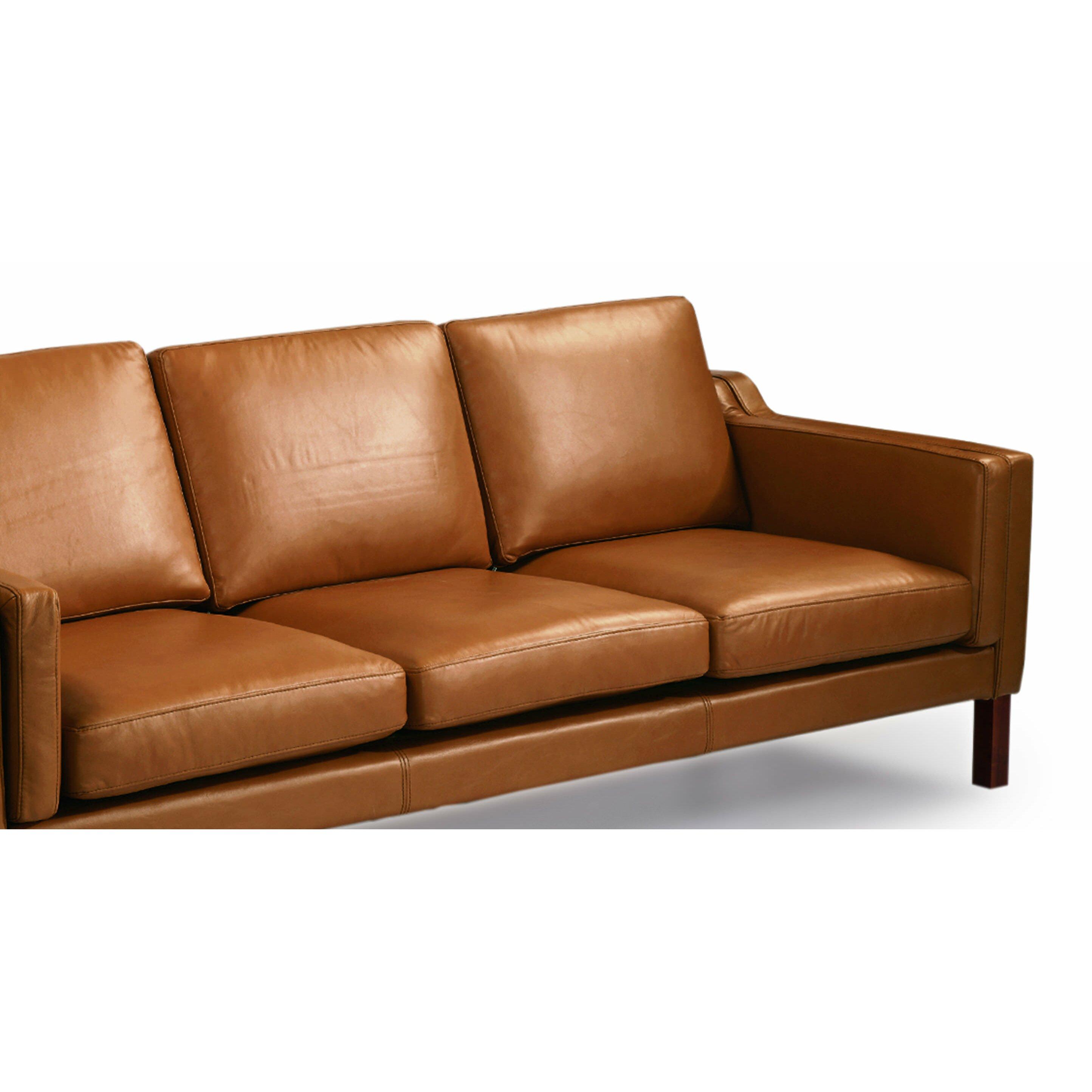 Mid Century Modern Sofas: Monroe Mid Century Modern Leather Sofa