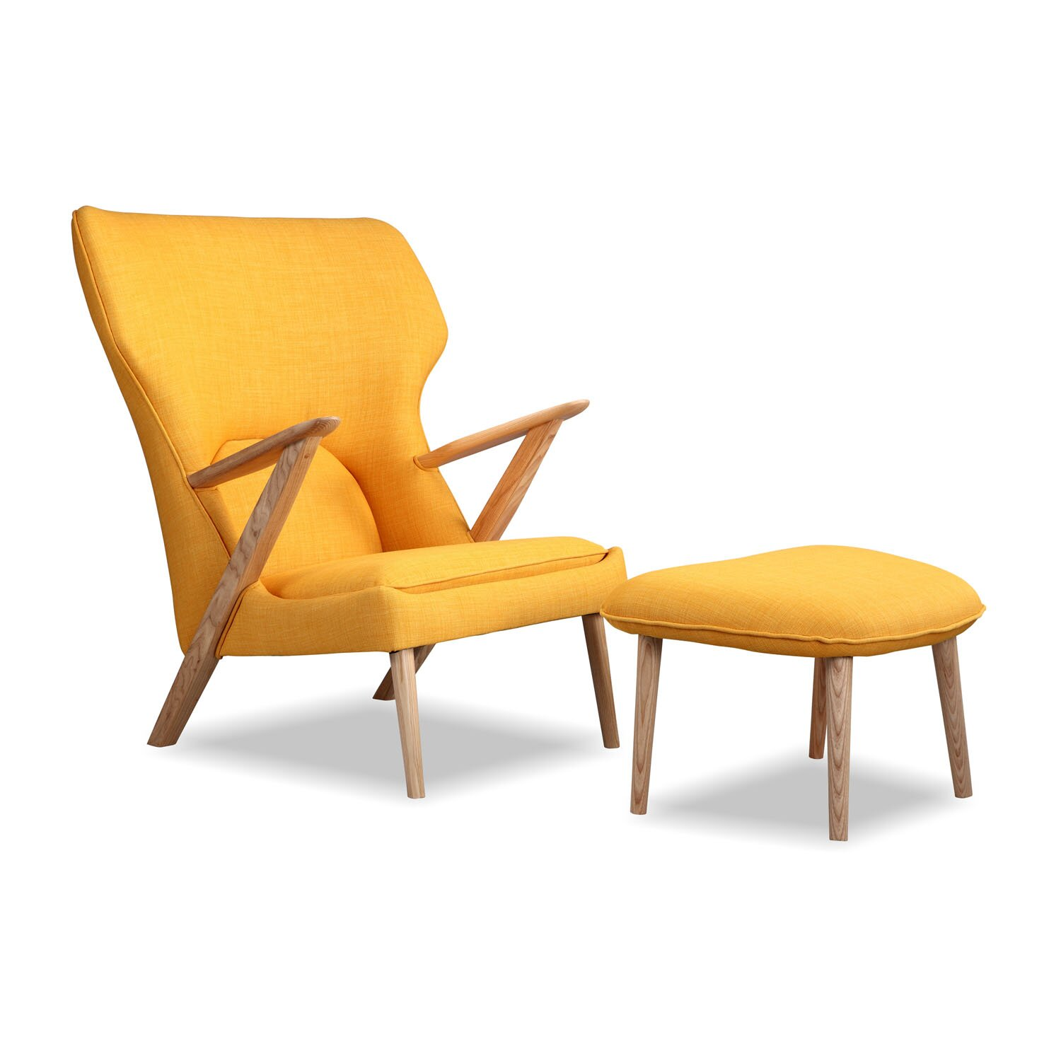 cub mid century modern lounge chair and ottoman by kardiel