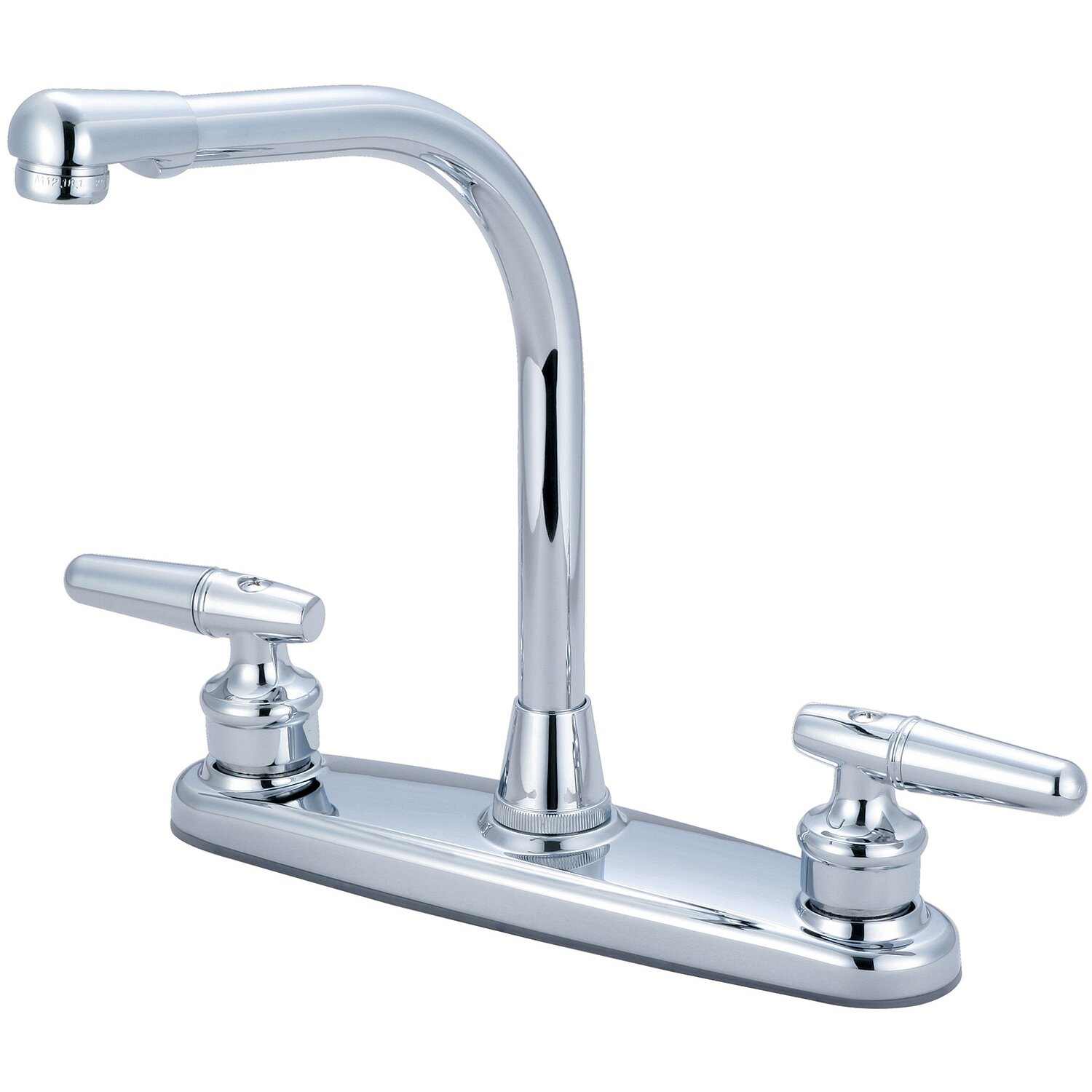 double handle centerset kitchen faucet wayfair