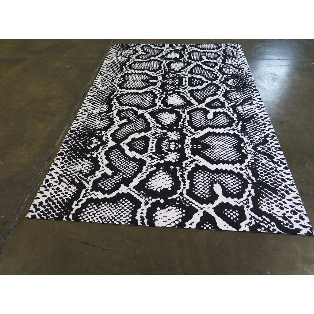 Black White Area Rugs Artistic Weavers Pollack Stella