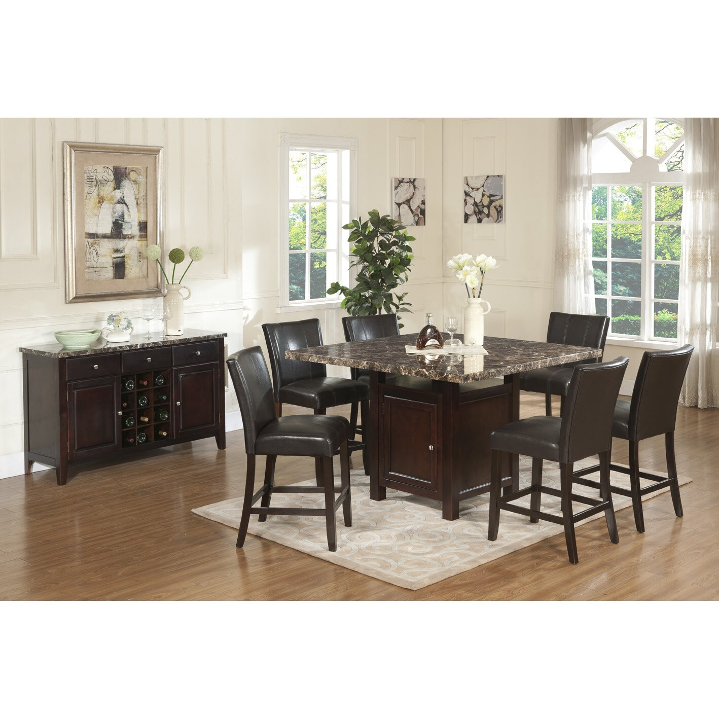 7 Piece Counter Height Dining Room Sets: In Style Ashley 7 Piece Counter Height Dining Set Amp