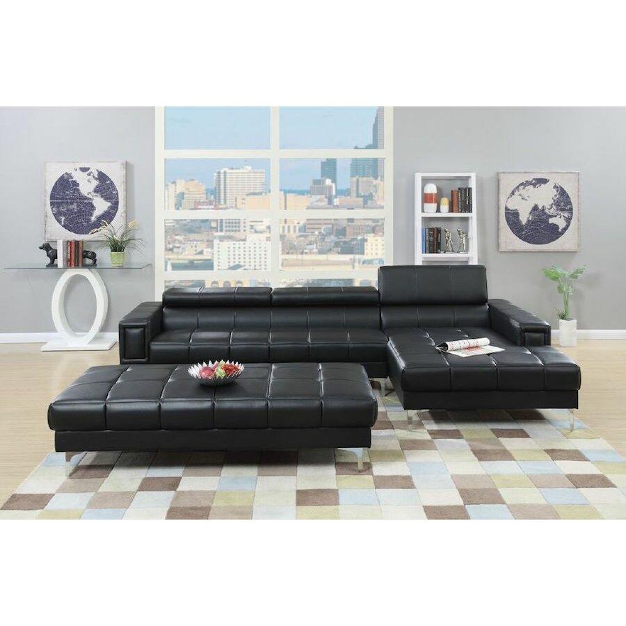 Infini furnishings sectional reviews wayfair for White sectional sofa wayfair