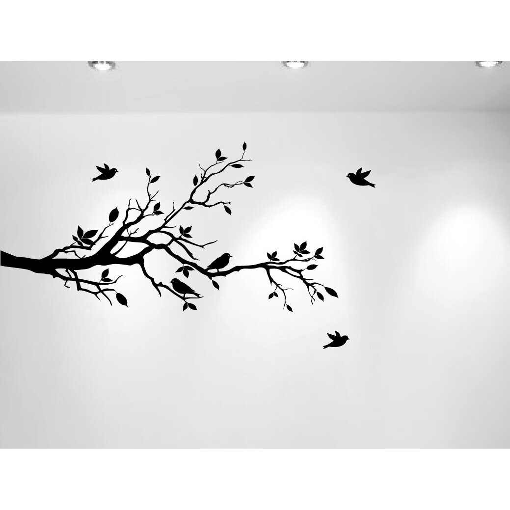 innovative stencils tree branches with leaves and love large tree branch wall decor removable vinyl decal home