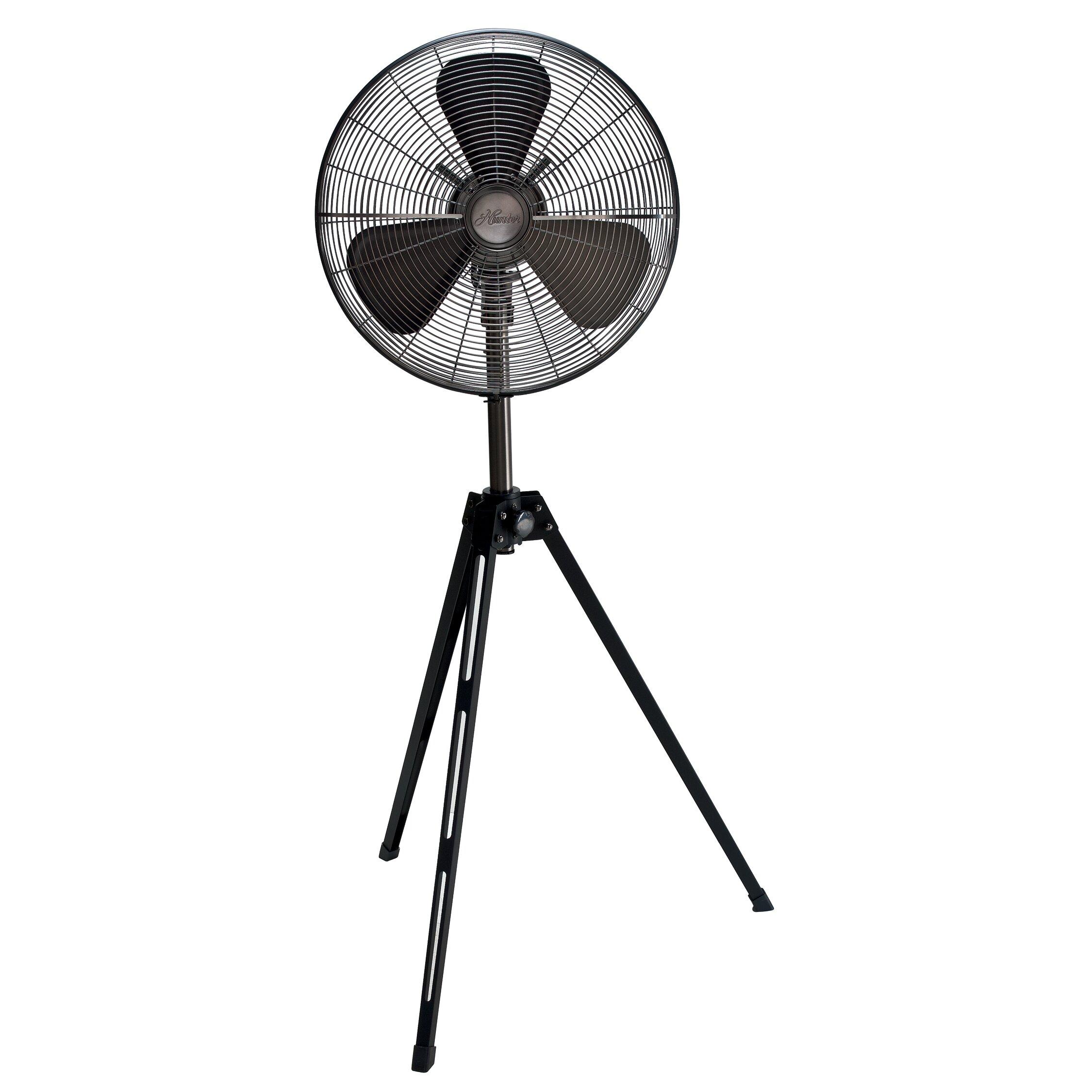 Hunter Home Comfort 16 Retro Tripod Stand Fan & Reviews Wayfair #51575C