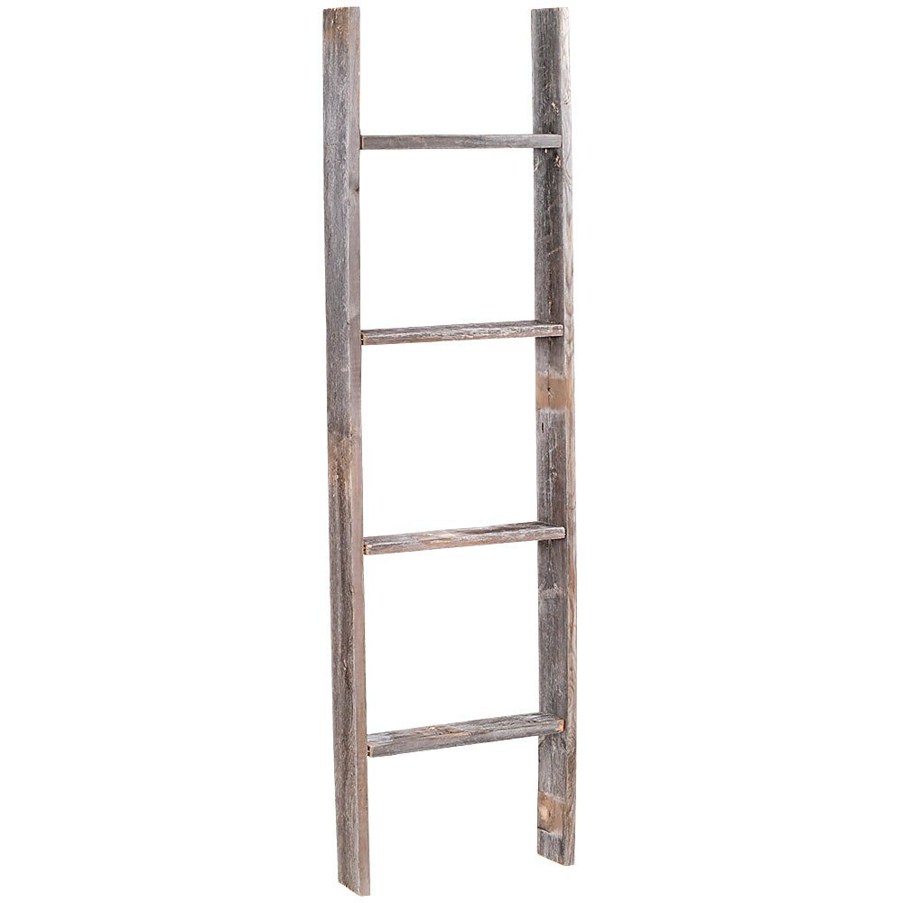 ... ft Barn Wood Rustic Decorative Ladder & Reviews | Wayfair