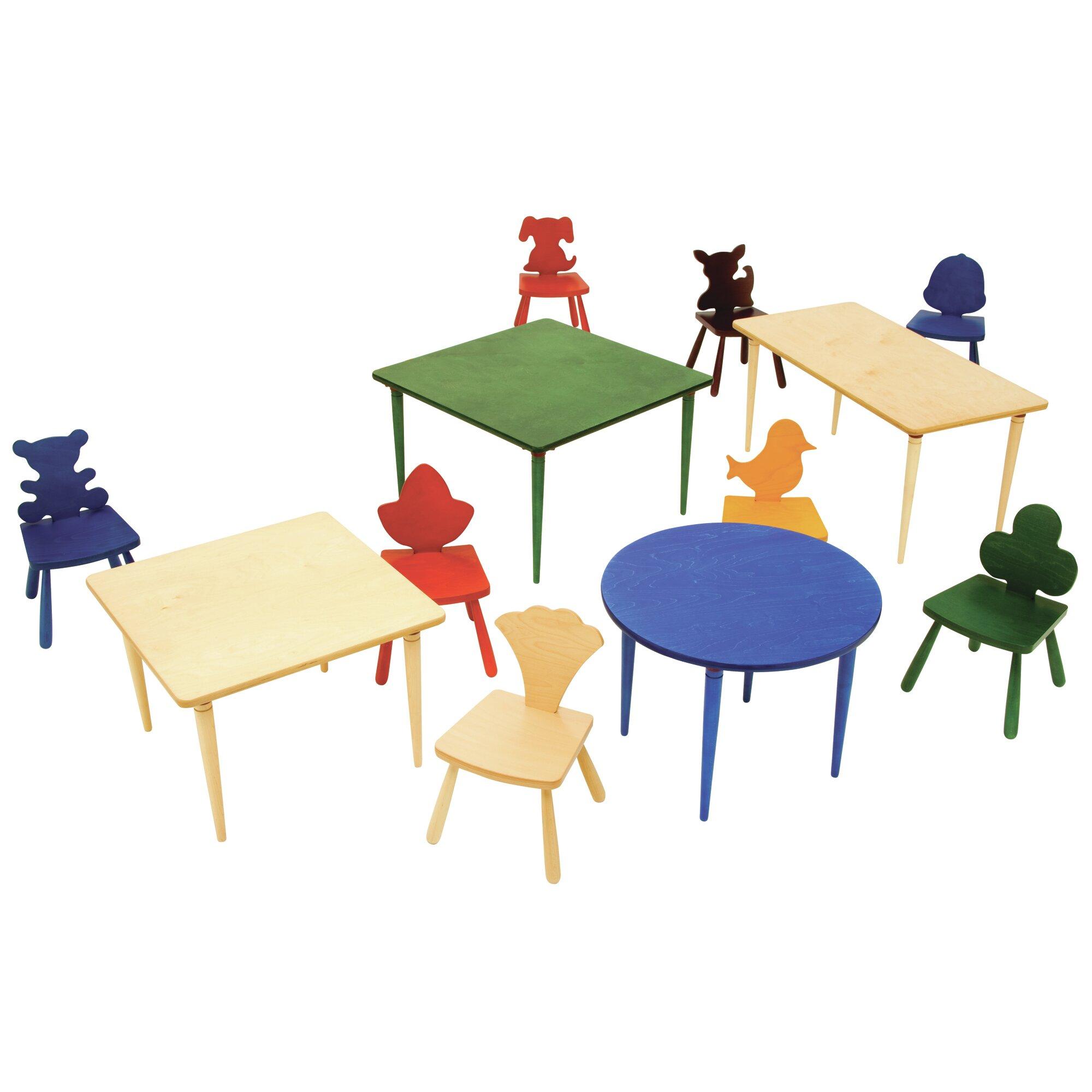 kids square arts and crafts table wayfair supply. Black Bedroom Furniture Sets. Home Design Ideas