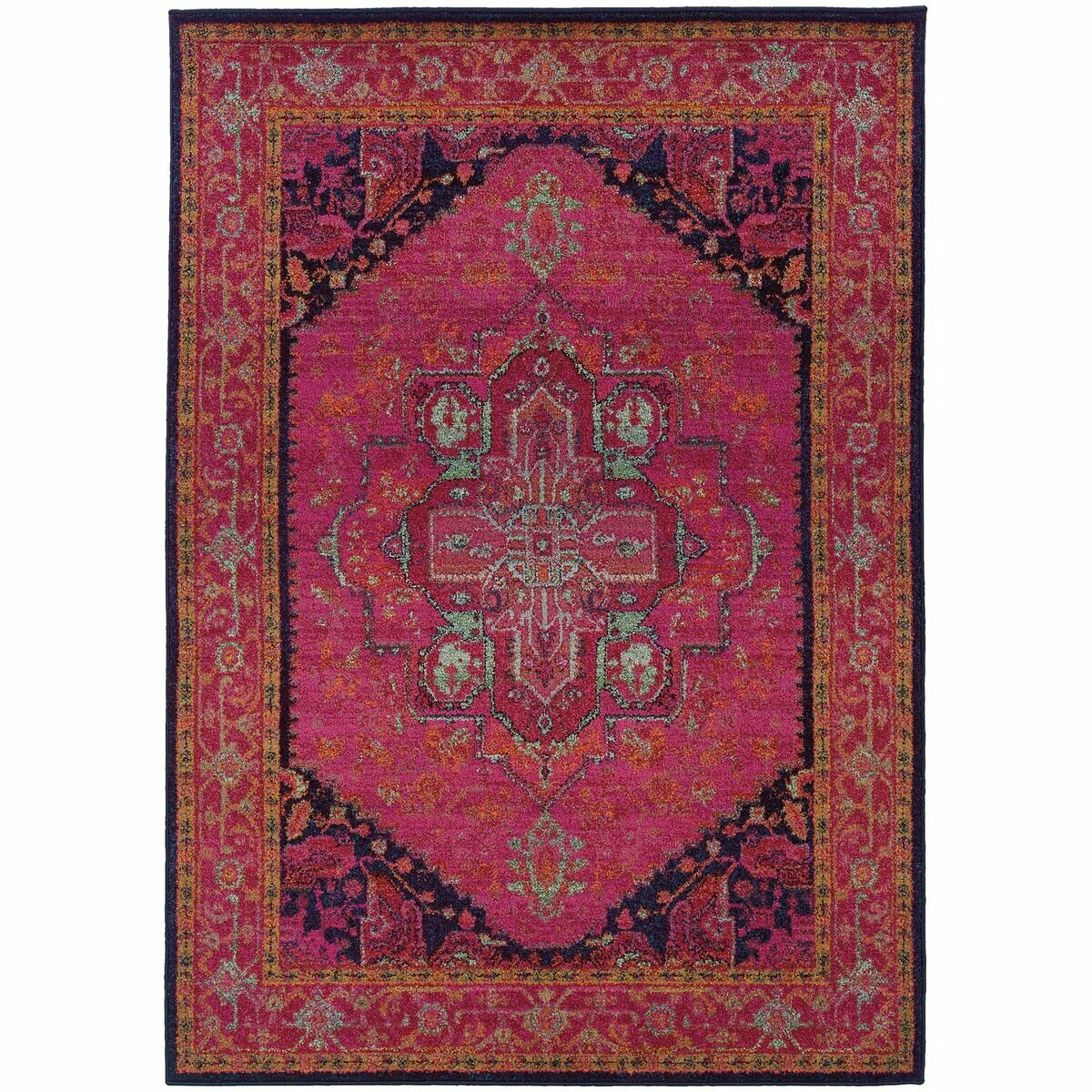 the conestoga trading co aura updated traditional pink blue area rug reviews wayfair. Black Bedroom Furniture Sets. Home Design Ideas