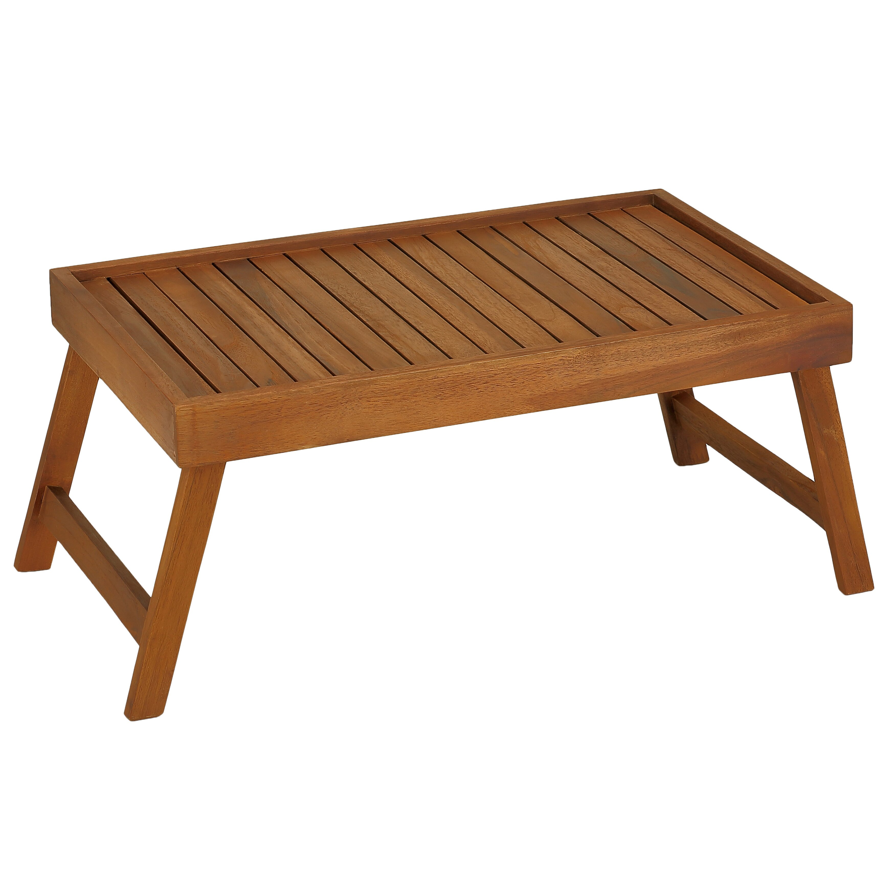 Superb img of Coco Bed Tray Table in Solid Teak Wood by BareDecor with #472714 color and 3500x3500 pixels