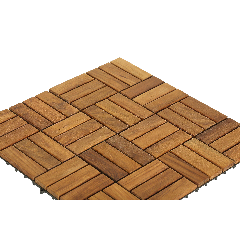 Decor EZ Floor Wood 12 X 12 Interlocking Flooring Tile Trim I