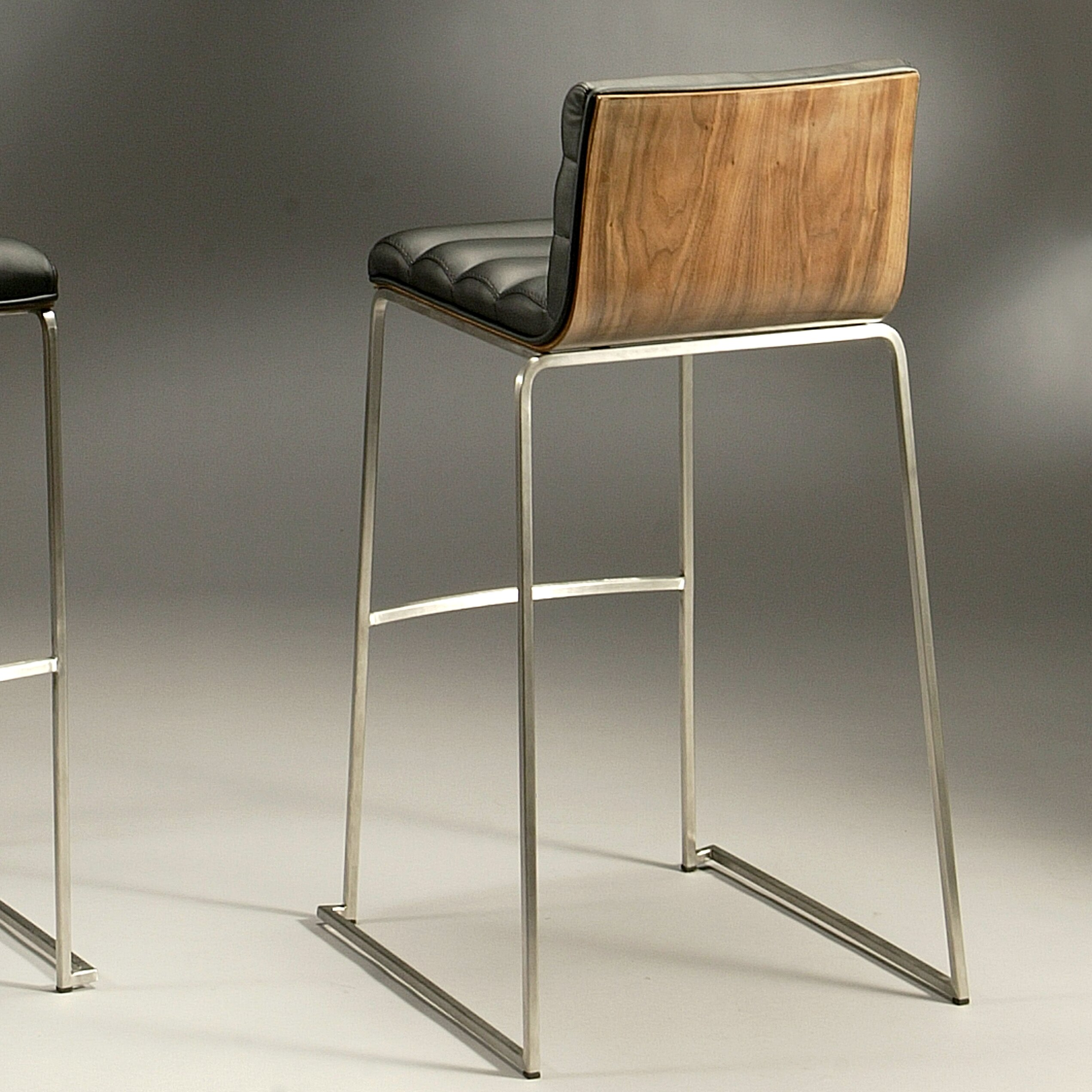 Amazing photo of Dominica 30.25 Bar Stool with Cushion.jpg with #8E643D color and 2542x2542 pixels