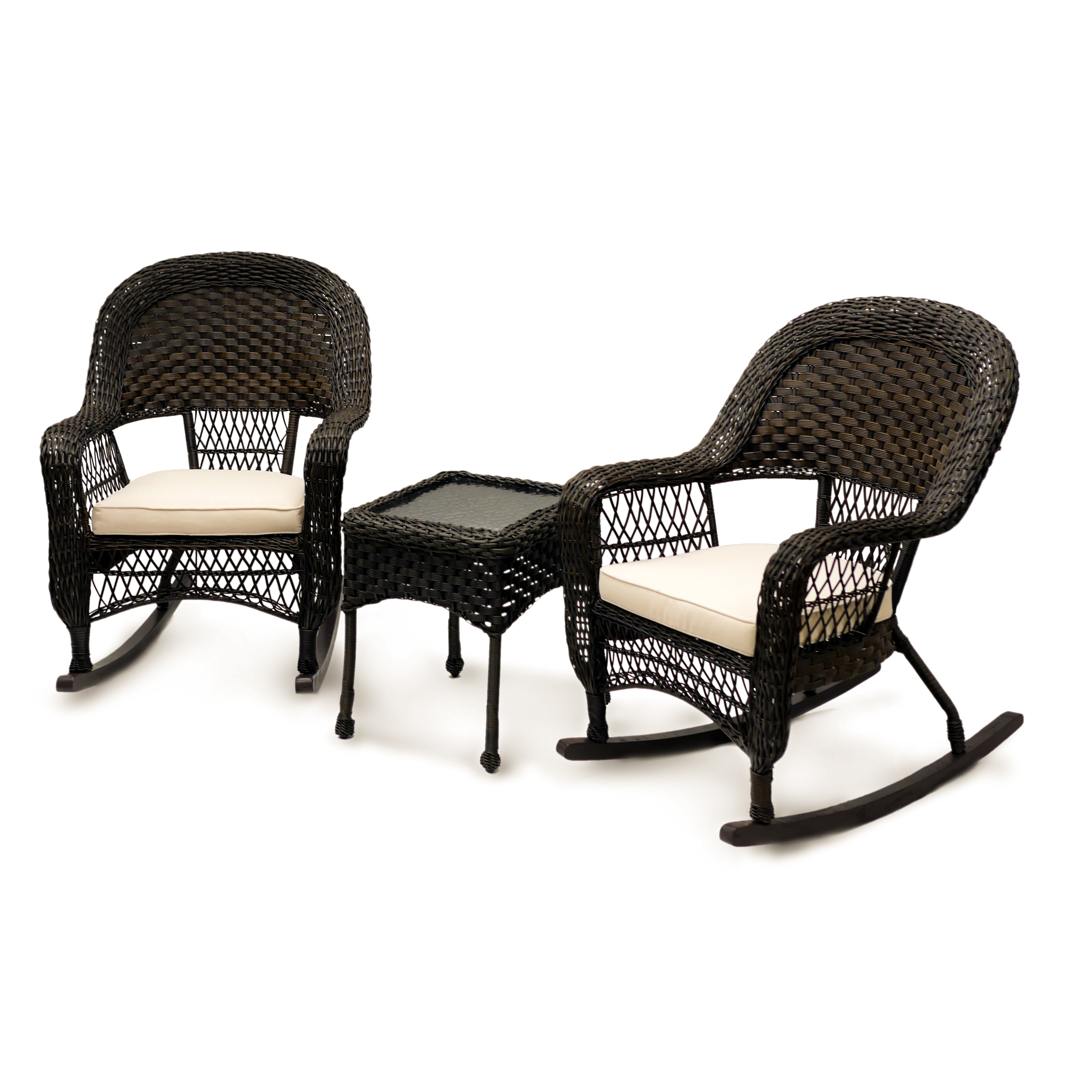 Veranda 5 Piece Resin Wicker Curved Outdoor Sectional W