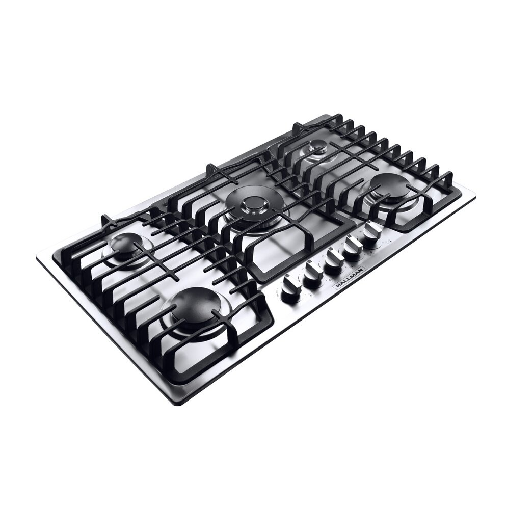 hallman 36 gas cooktop with 5 burners reviews wayfair. Black Bedroom Furniture Sets. Home Design Ideas