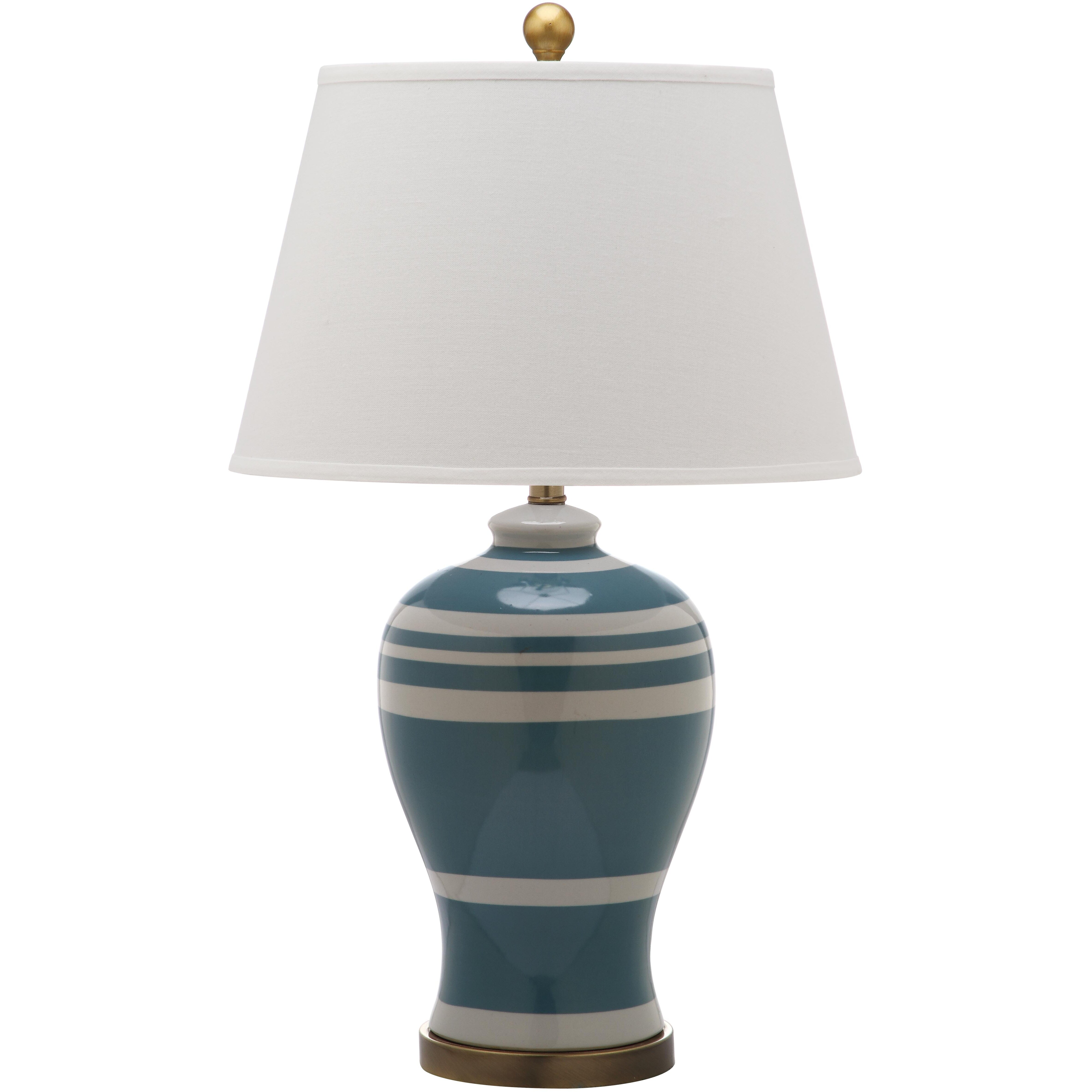 pottery stripe ginger jar 29 h table lamp with empire. Black Bedroom Furniture Sets. Home Design Ideas