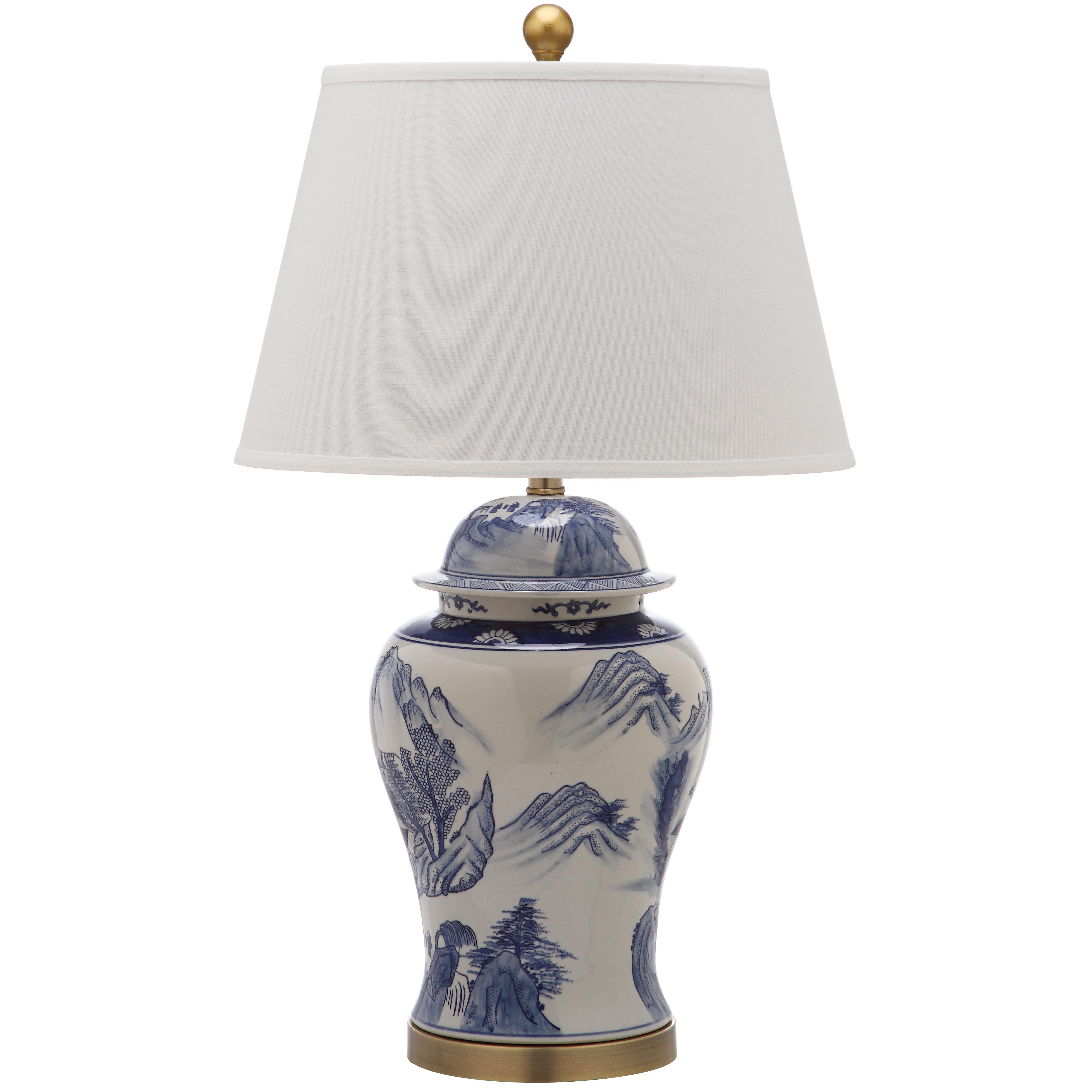 safavieh shanghai ginger jar 29 h table lamp with empire shade. Black Bedroom Furniture Sets. Home Design Ideas