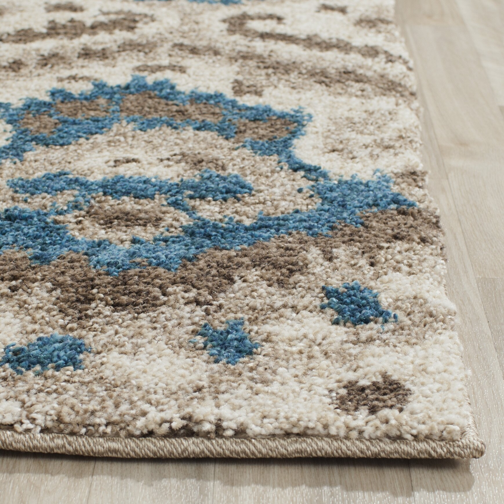 Turquoise And Brown Rug: Safavieh Tibetan Brown/Turquoise Ikat Rug & Reviews
