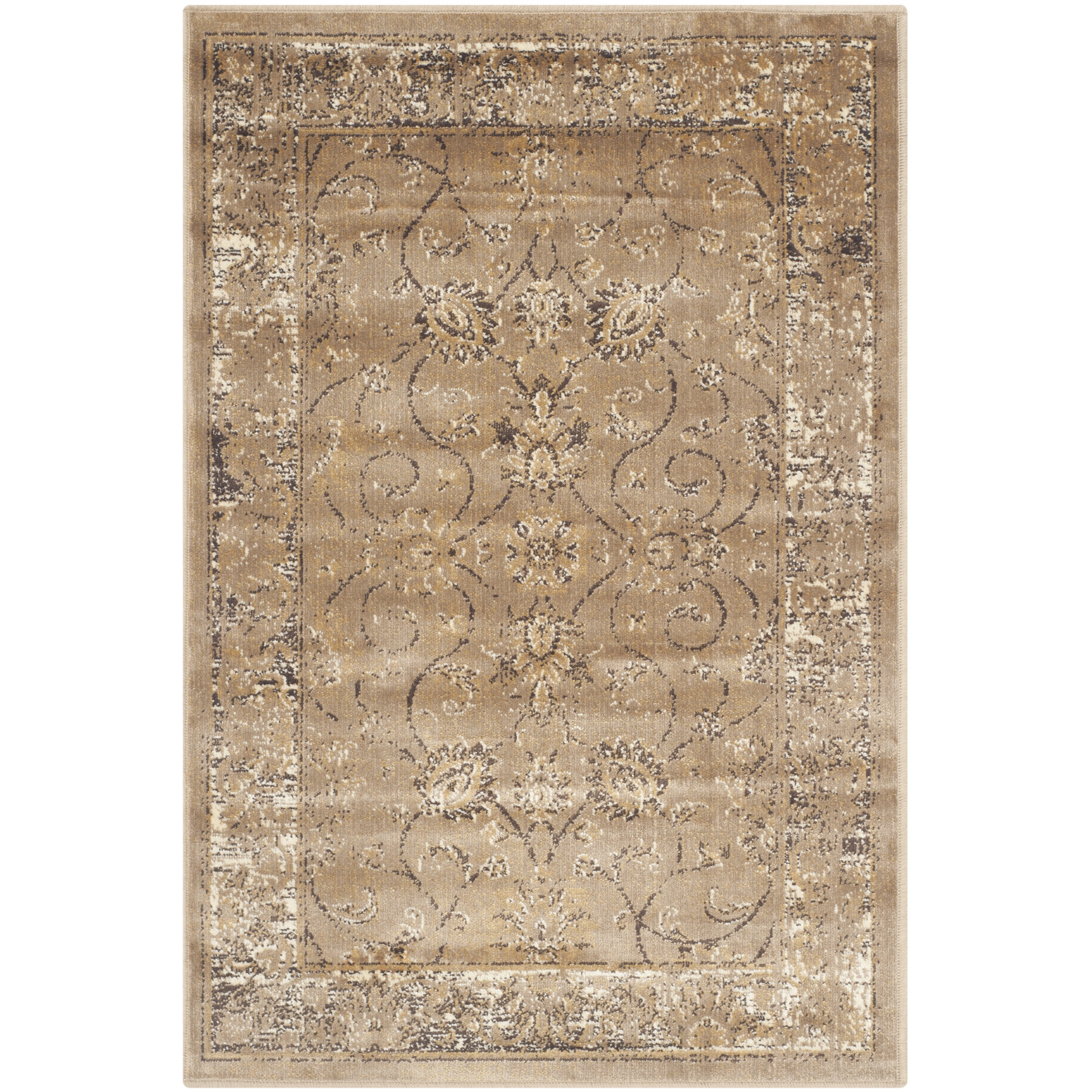 Damask Taupe Rug: Safavieh Vintage Taupe Area Rug & Reviews