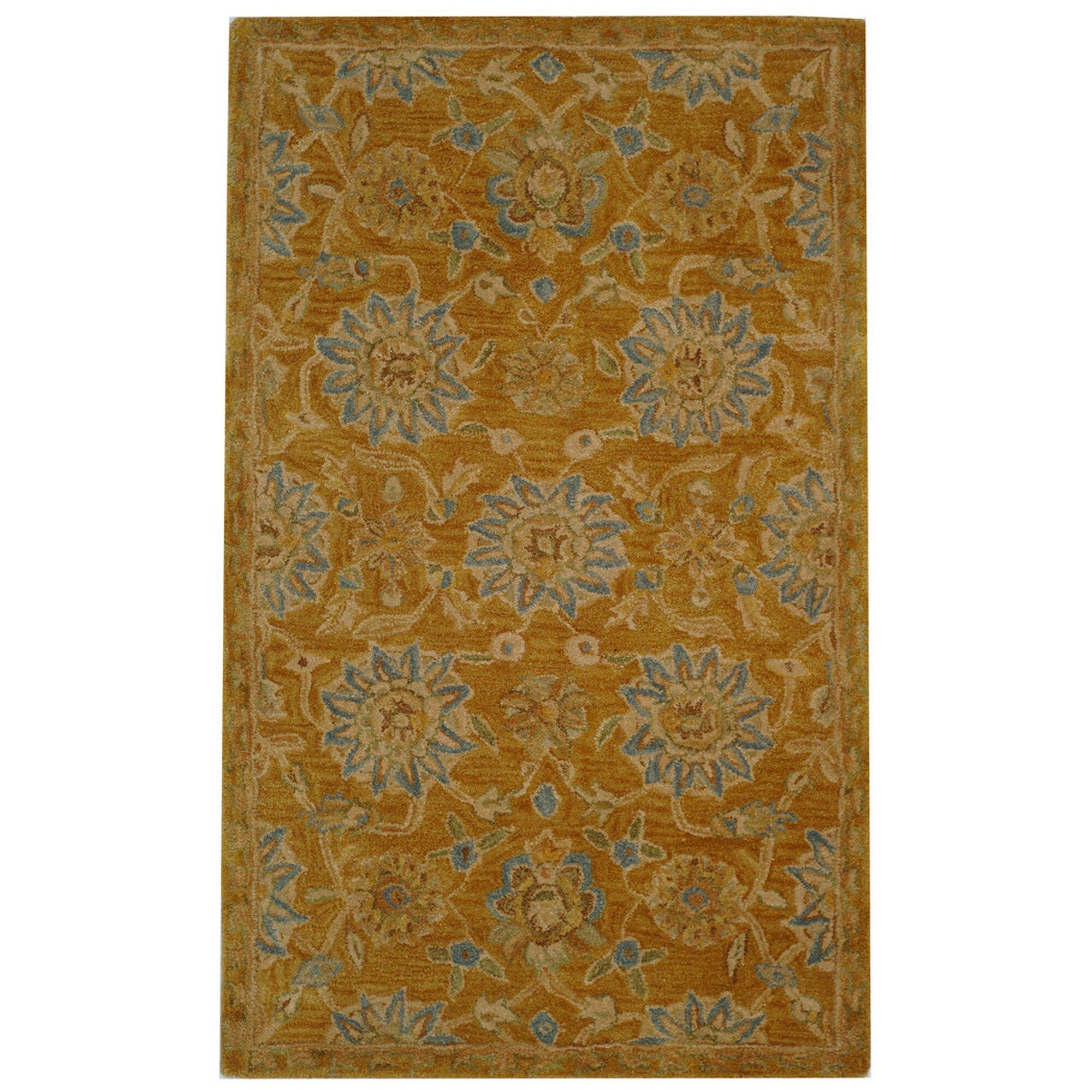 Wayfair Rugs: Safavieh Anatolia Gold/Blue Area Rug & Reviews