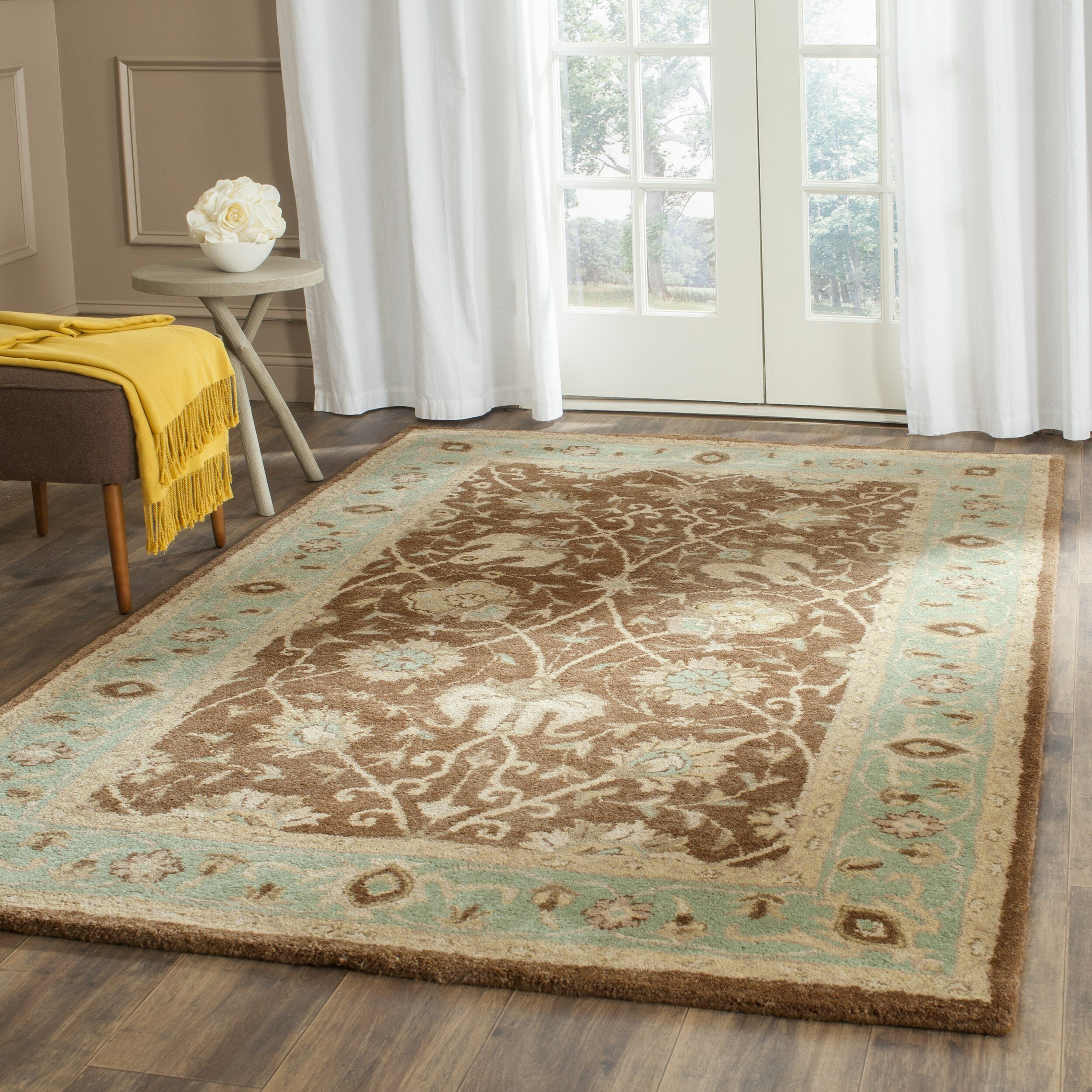 Safavieh Antiquities Brown/Green Area Rug