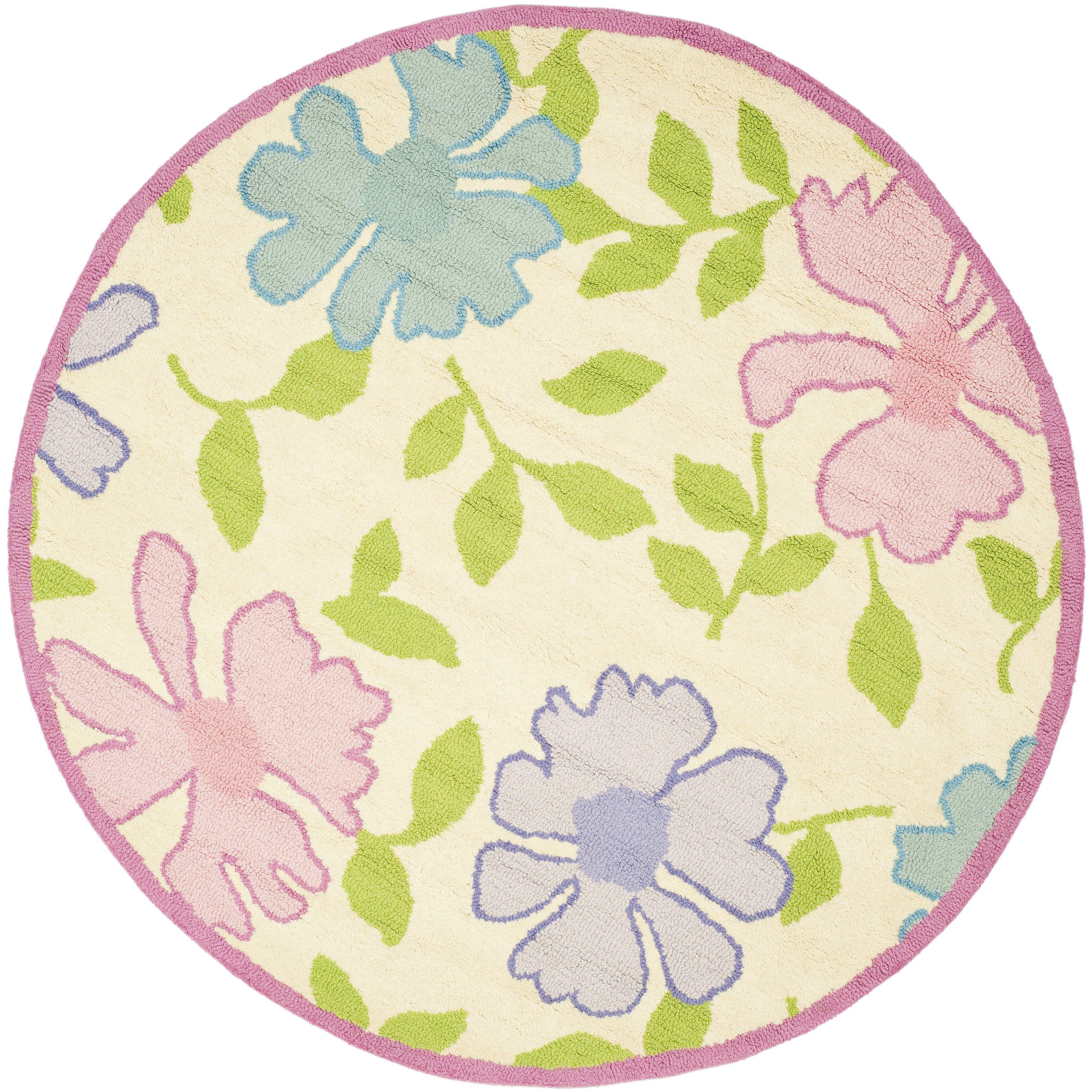 Safavieh Kids Pink Flower Area Rug & Reviews